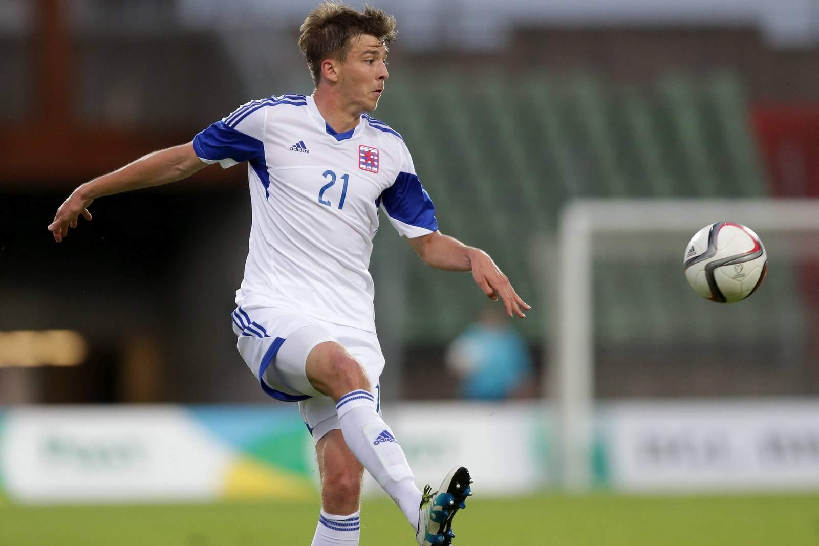 Maurice Deville im Trikot der Nationalmannschaft von Luxemburg