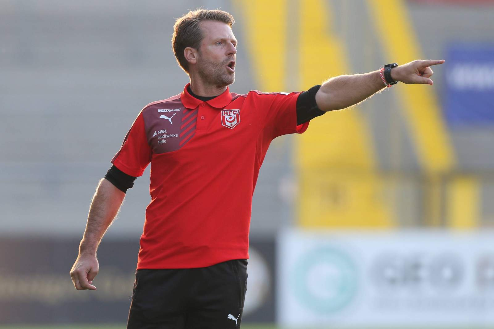 Rico Schmitt, Trainer des Halleschen FC.