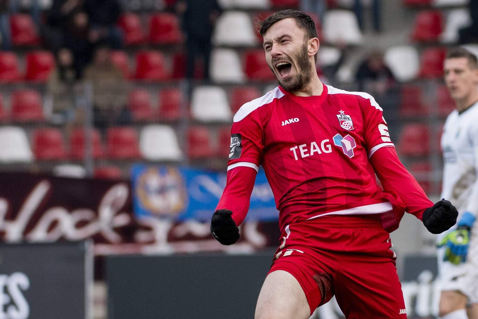 Carsten Kammlott erzielte in dieser Saison bereits 10 Treffer für RW Erfurt.