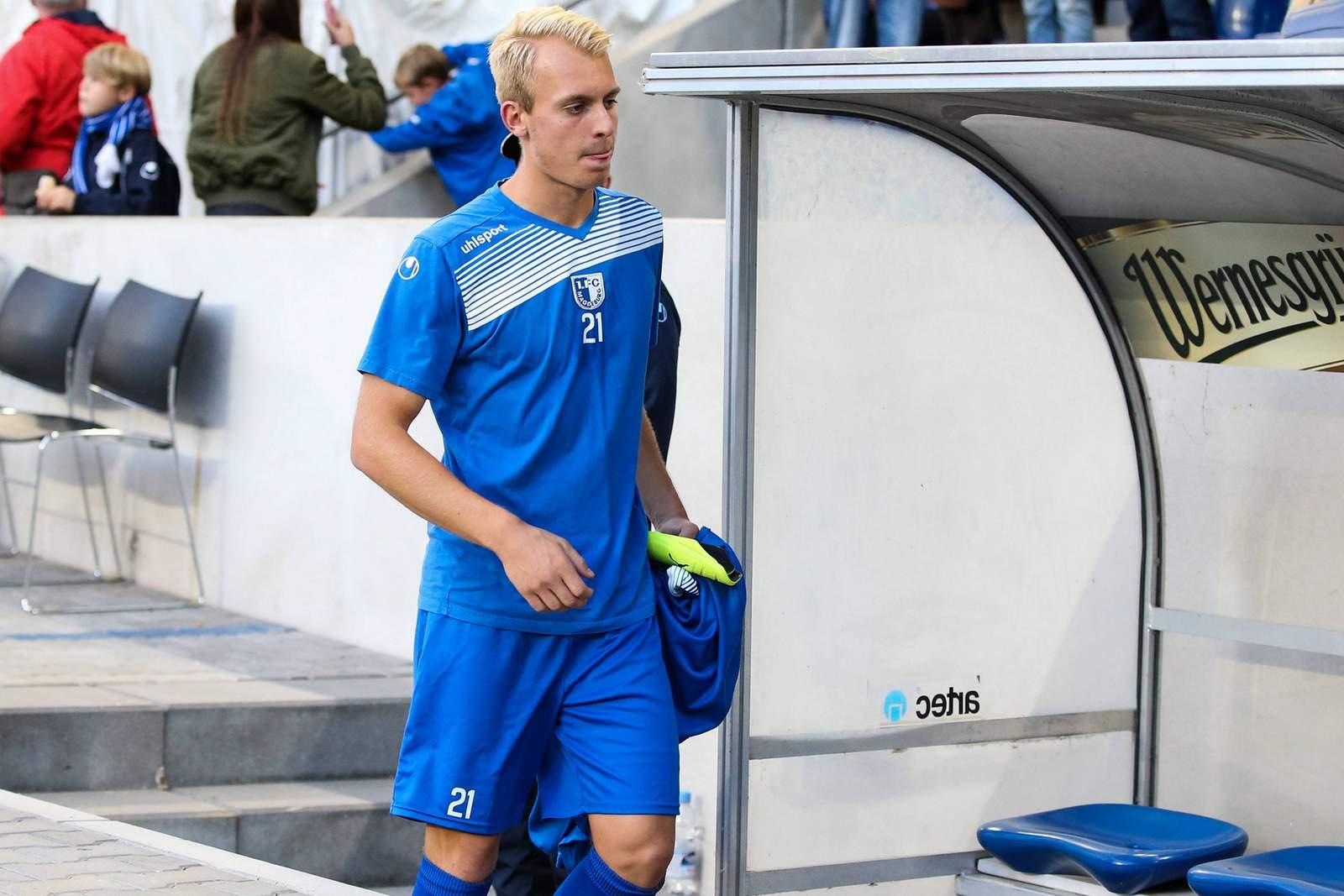 Julius Düker vom 1.FC Magdeburg