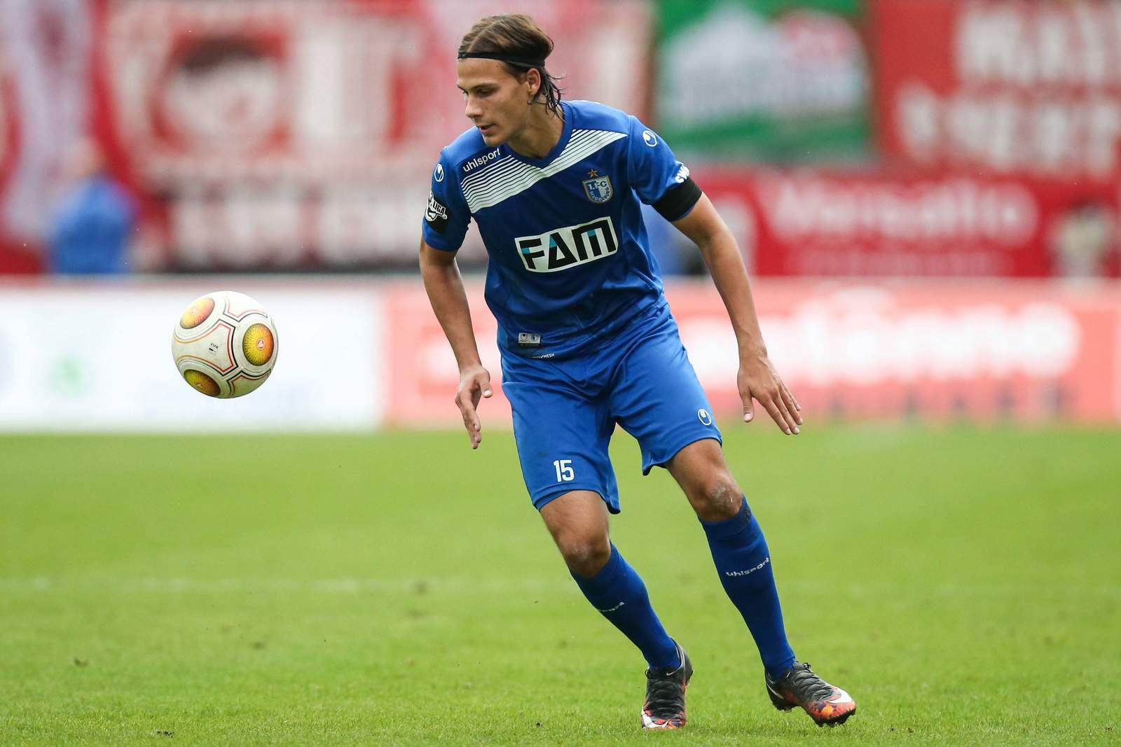 Tobias Schwede im Trikot des 1. FC Magdeburg.
