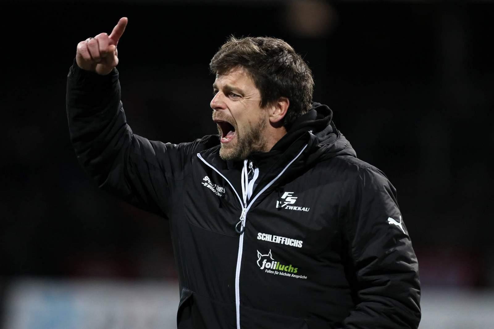 Torsten Ziegner, Coach beim FSV Zwickau