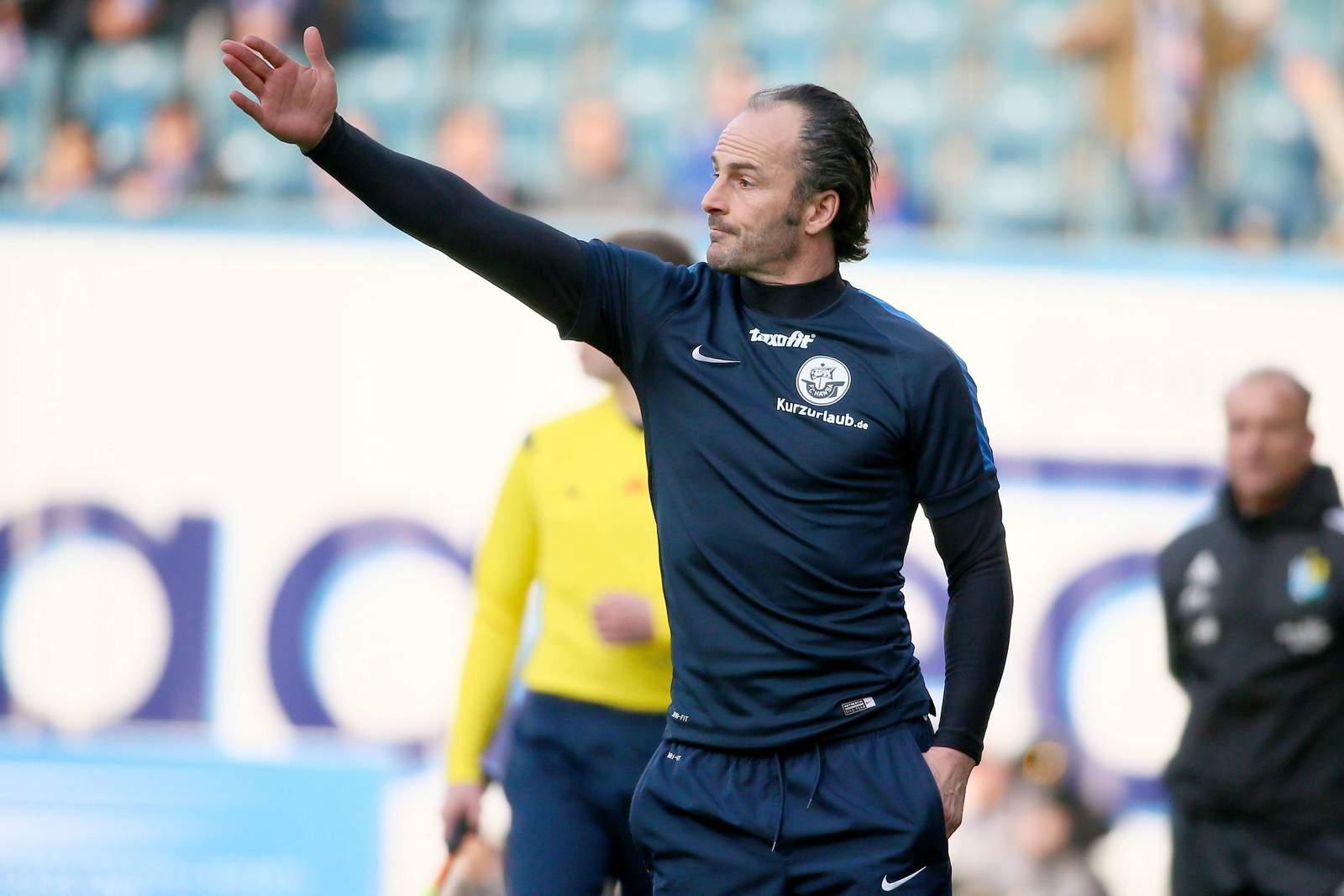 Christian Brand, Trainer des F.C. Hansa Rostock.