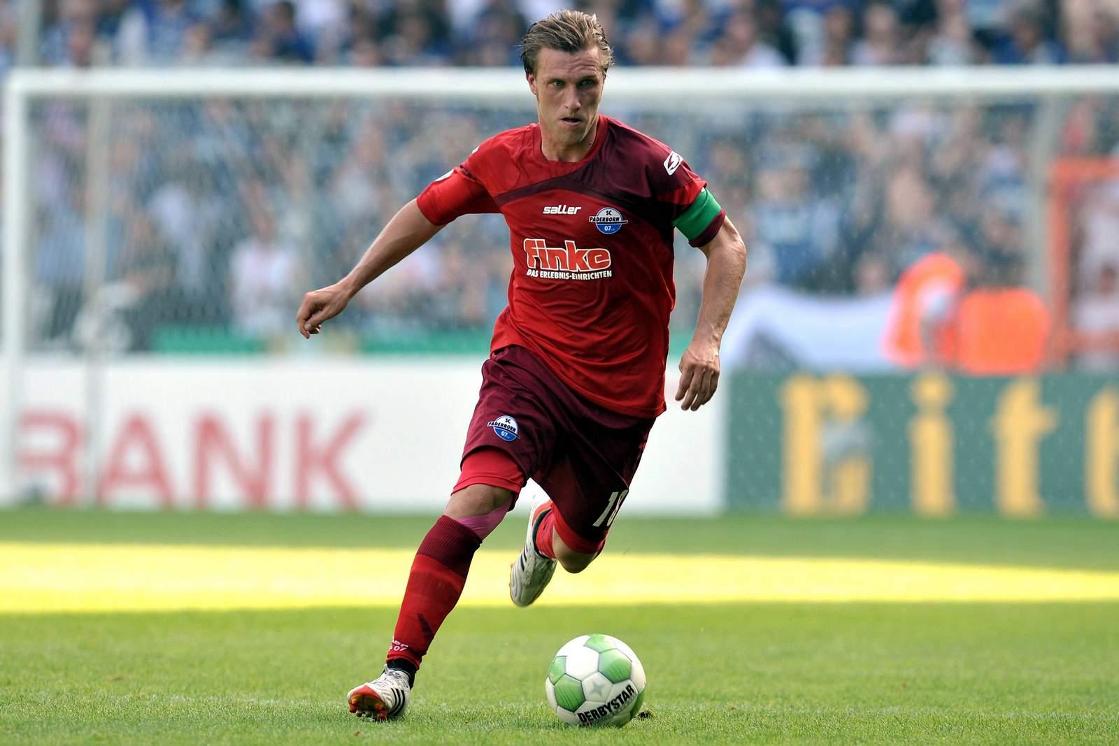 Markus Krösche im Trikot des SC Paderborn 07.