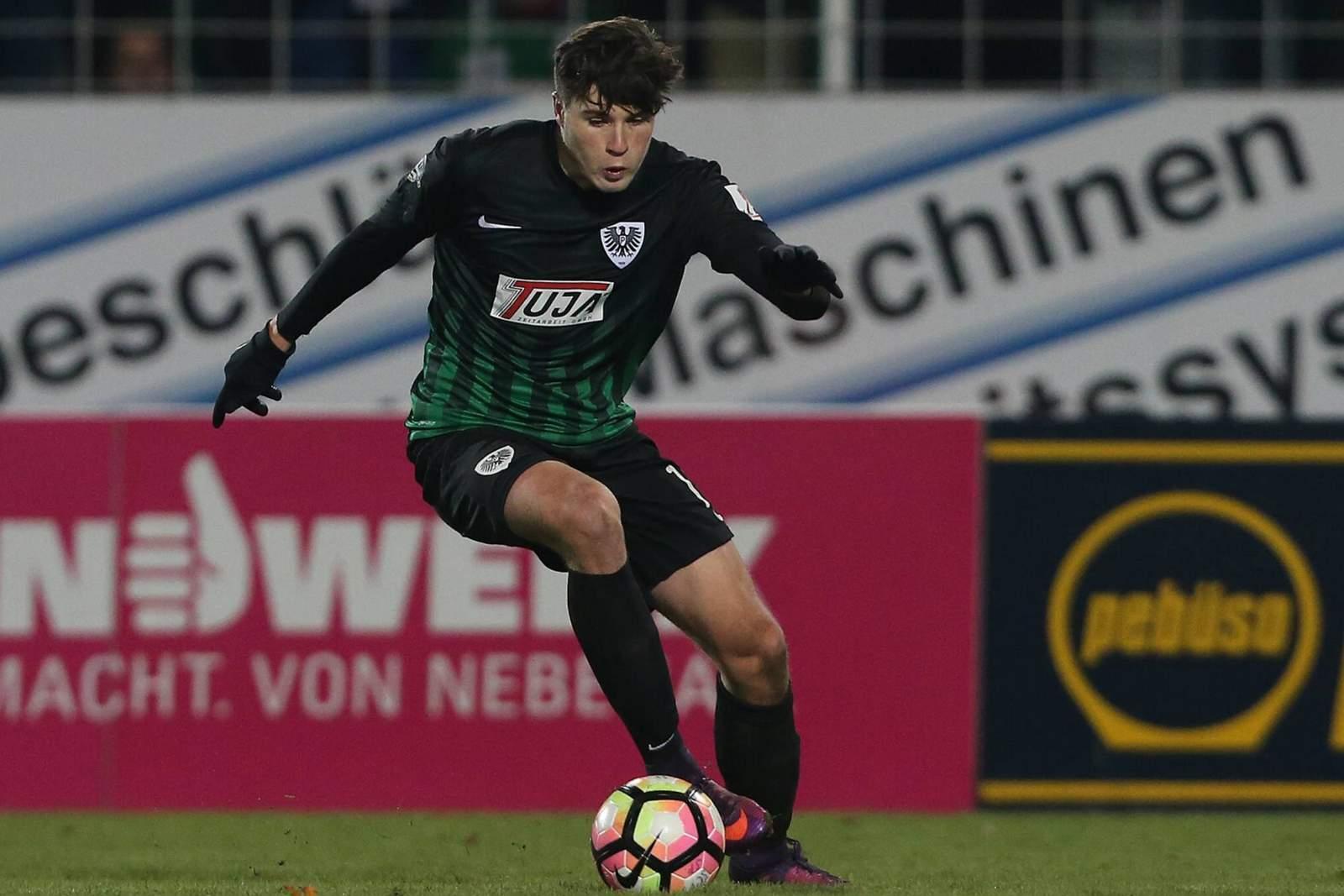 Tobias Warschewski, Stürmer des SC Preußen Münster.
