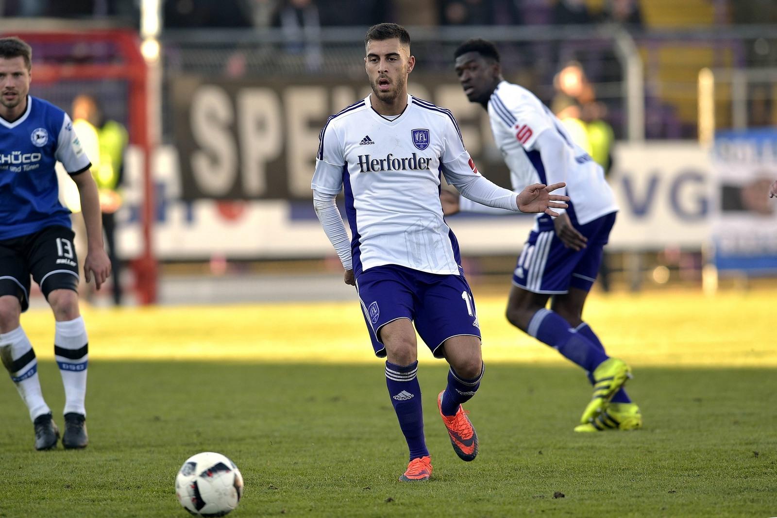 Kemal Rüzgar, hier bei seinem Testspiel-Debüt gegen Arminia Bielefeld.