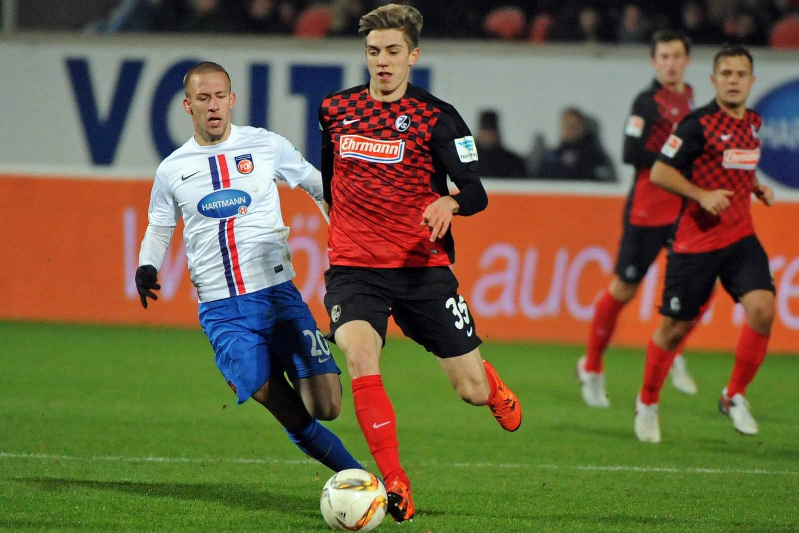 Lucas Hufnagel in der 2. Bundesliga gegen Heidenheim