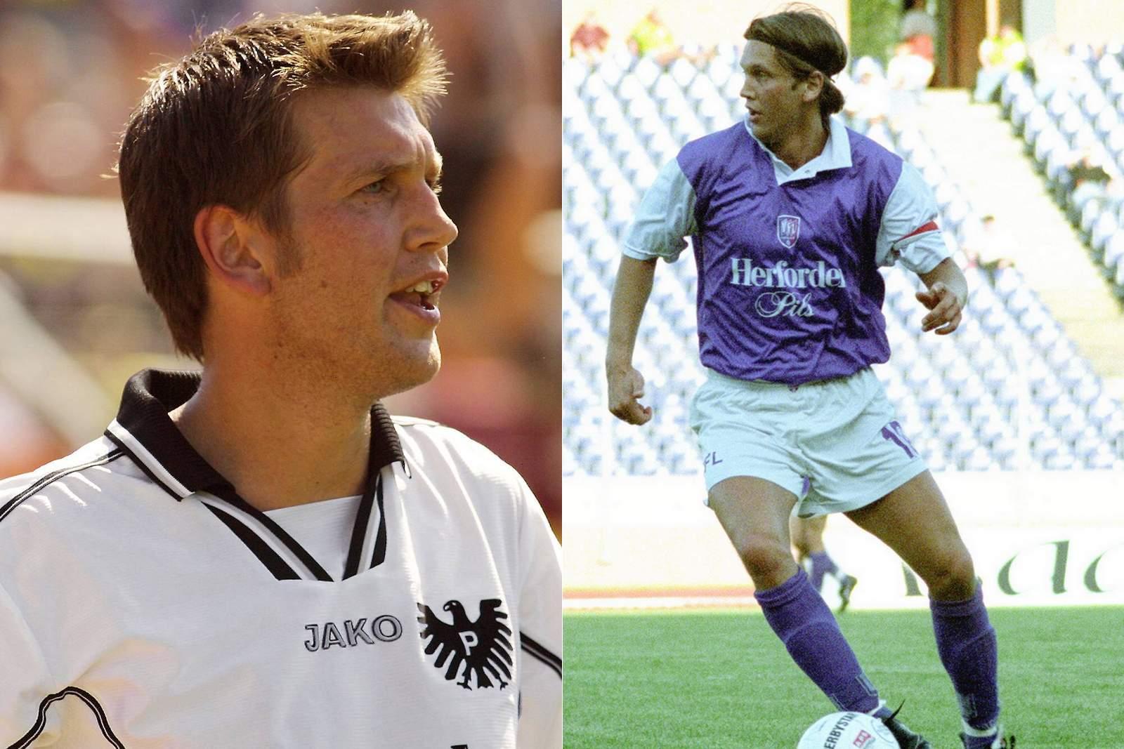Martin Przondziono im Trikot von Preußen Münster und dem VfL Osnabrück