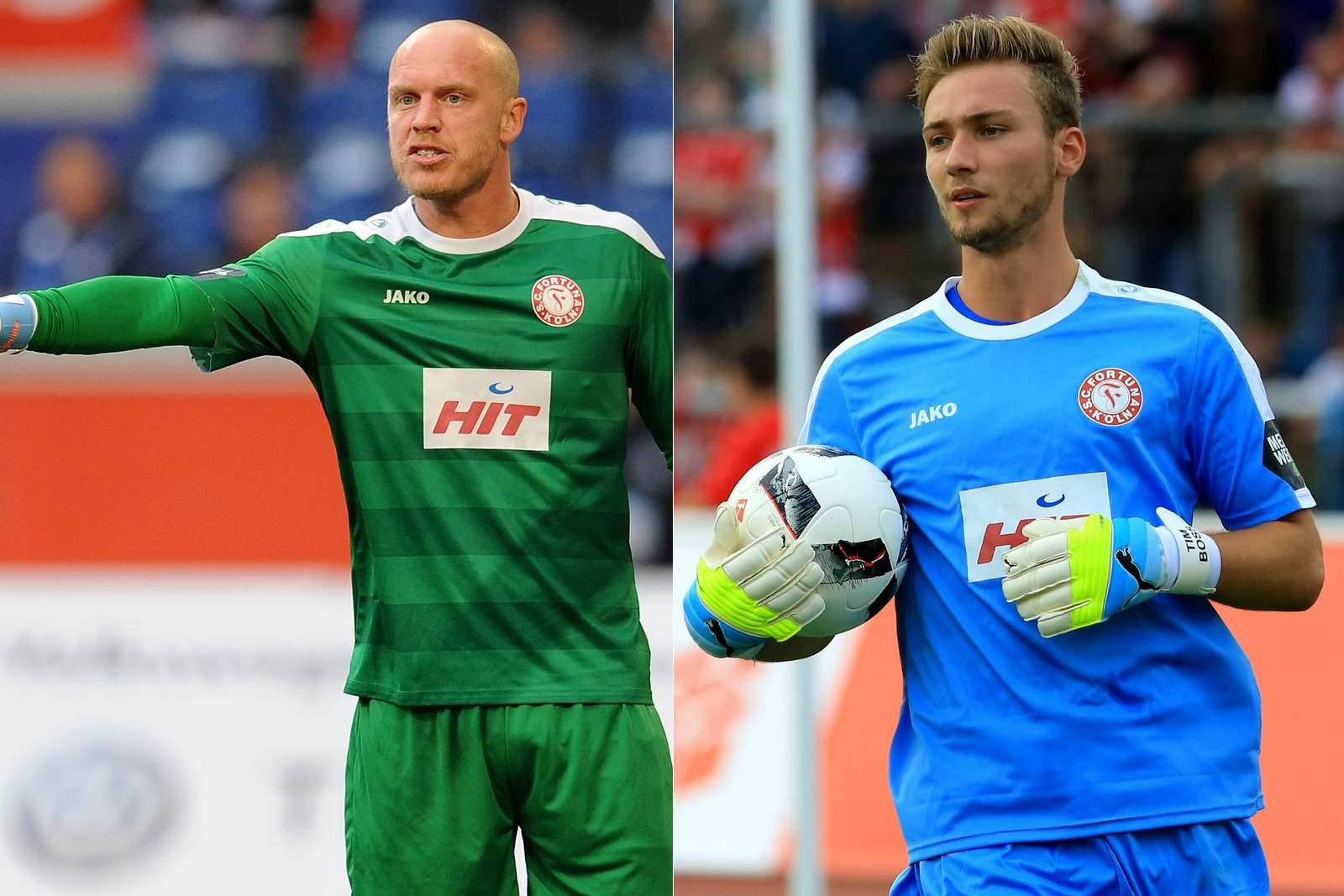 André Poggenborg und Tim Boss, das Torhüter-Duo des SC Fortuna Köln.