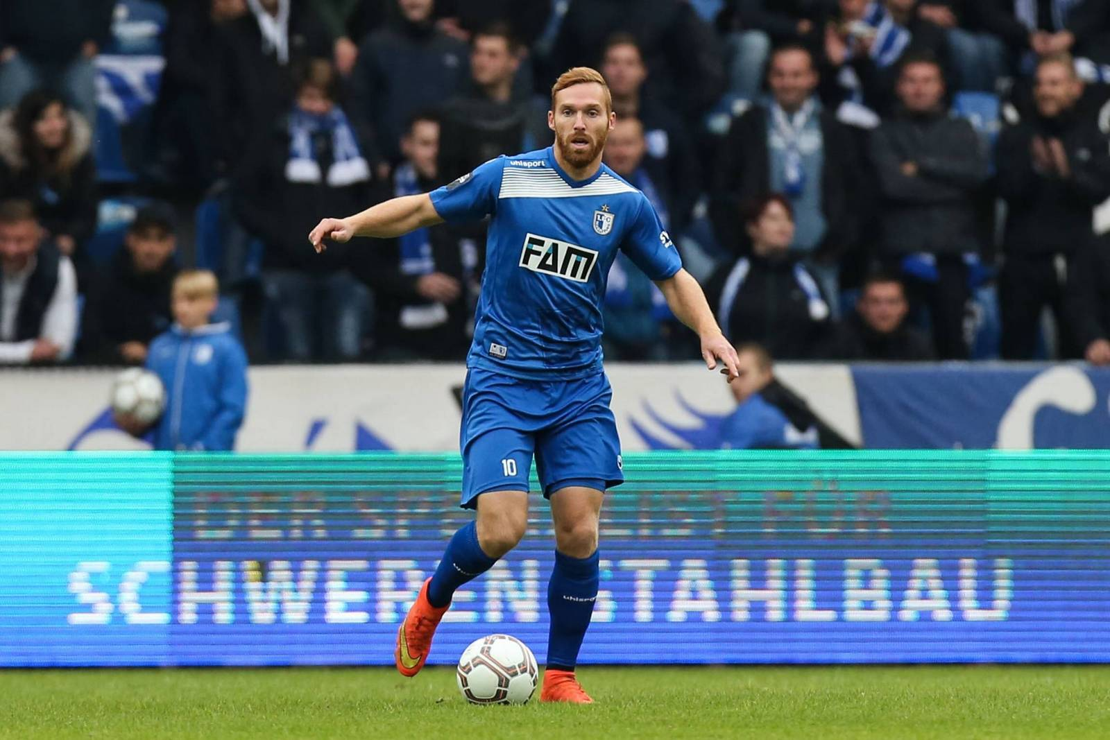 Nico Hammann, Abwehrspieler des 1. FC Magdeburg.