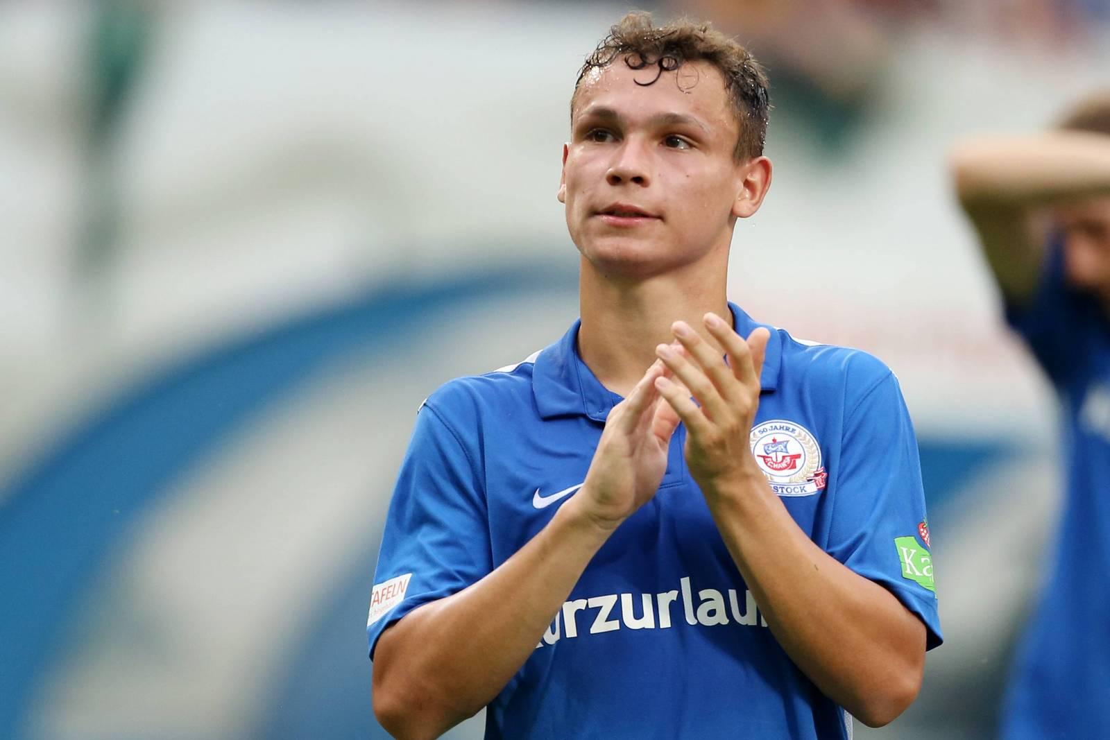 Lukas Scherff, hier im Trikot von Hansa Rostock.