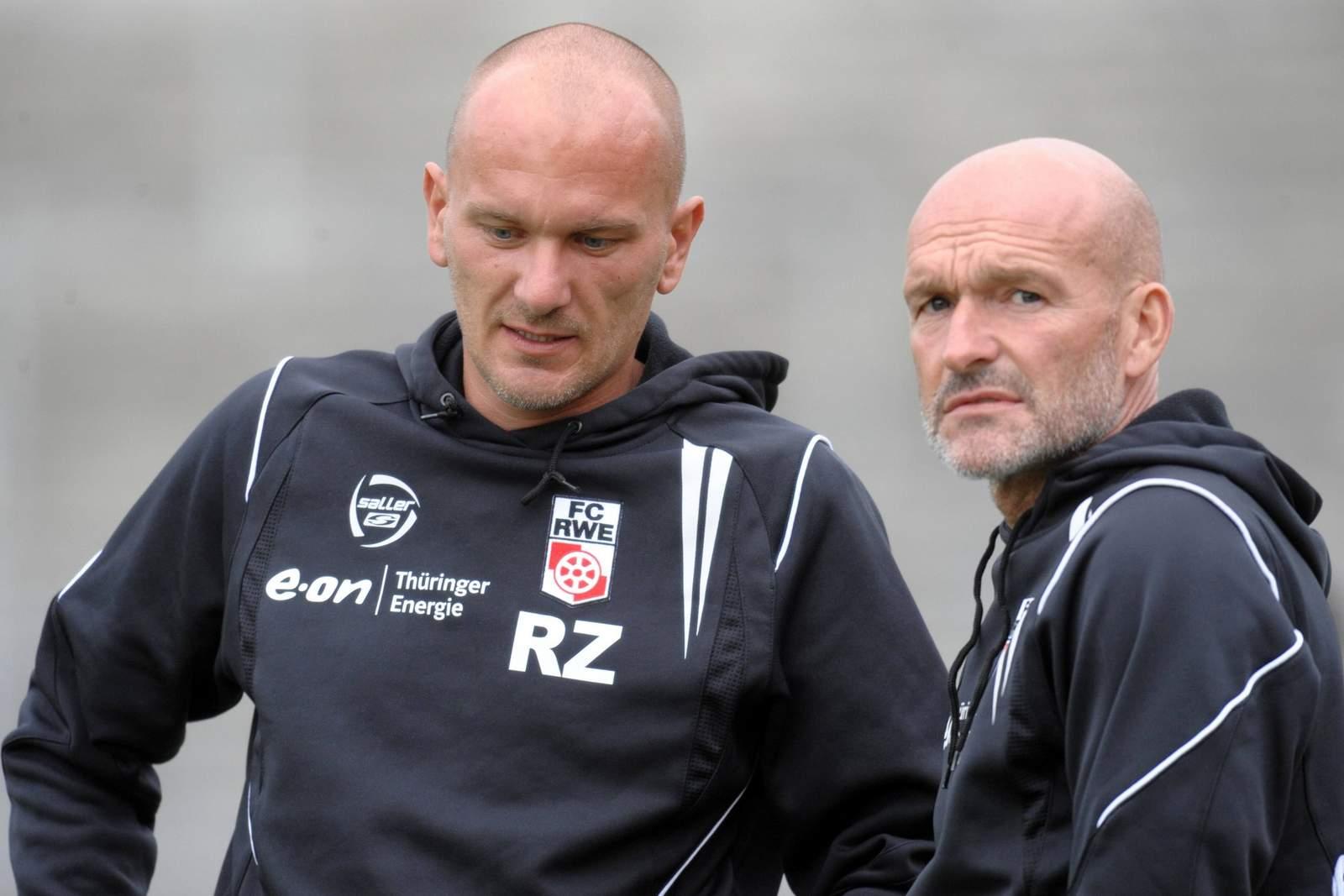 Rudi Zedi und Stefan Emmerling arbeiteten gemeinsam für Rot-Weiß Erfurt.