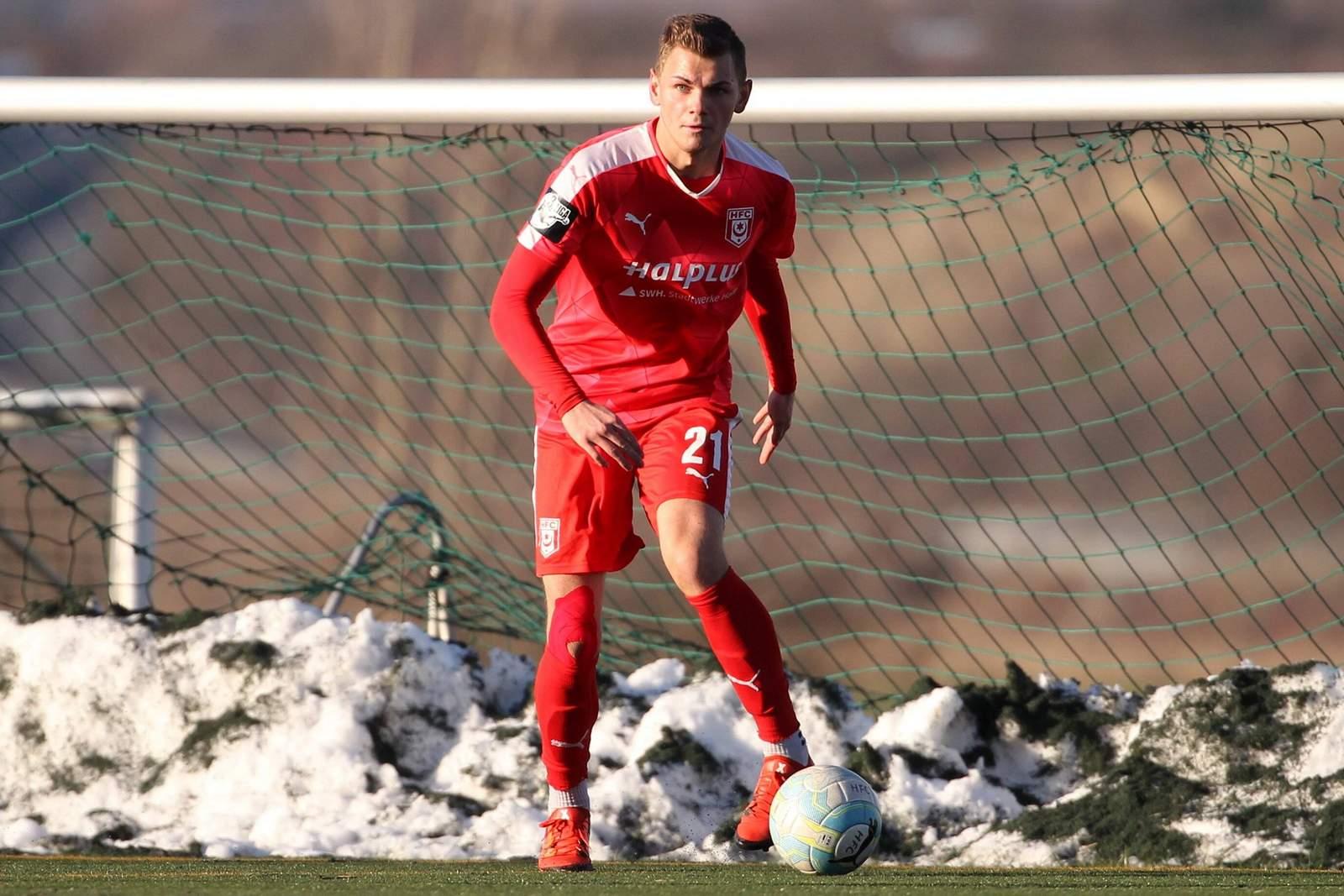 André Wallenborn, Linksverteidiger beim Halleschen FC
