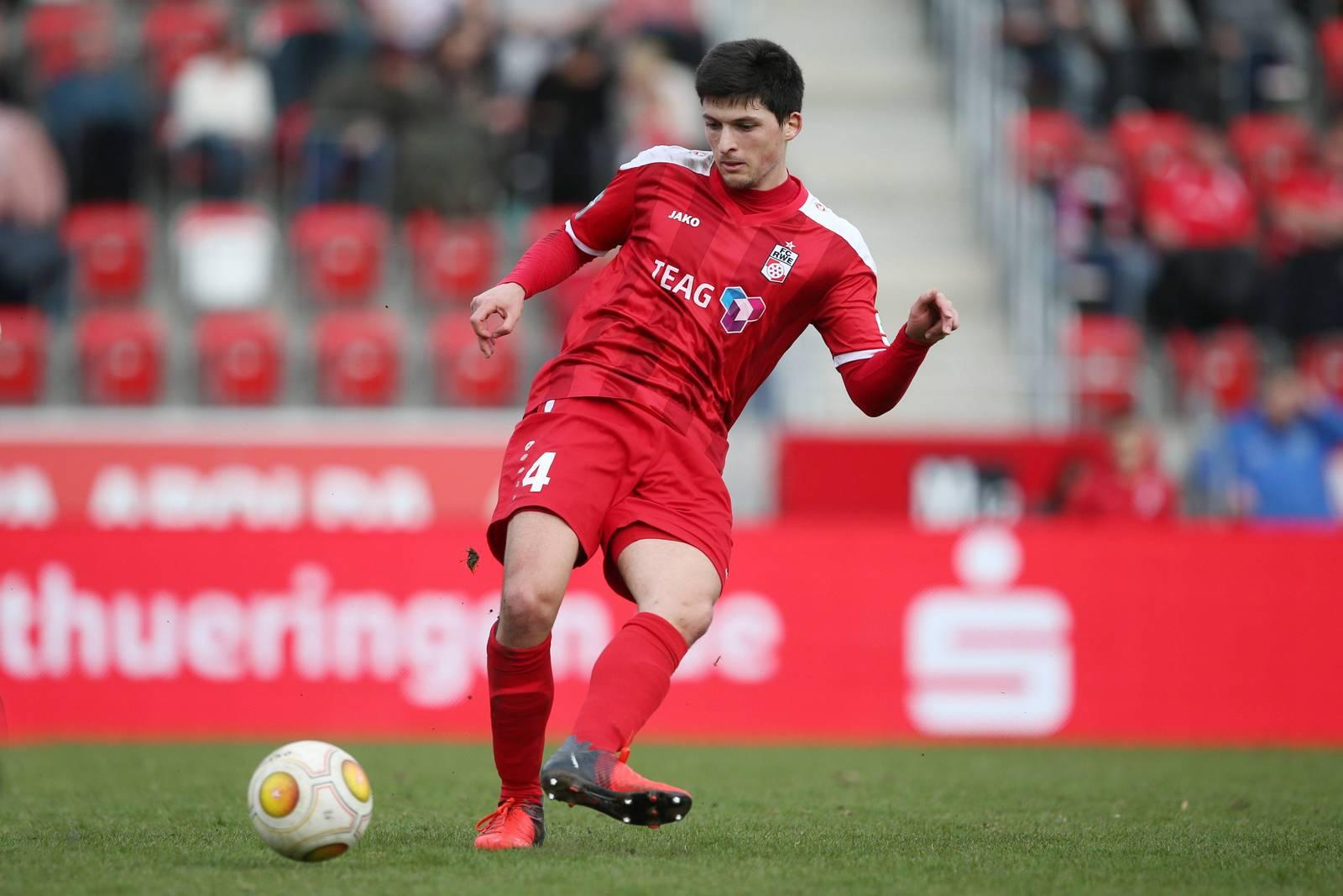 Jannis Nikolaou spielt seit zwei Jahren in Erfurt.