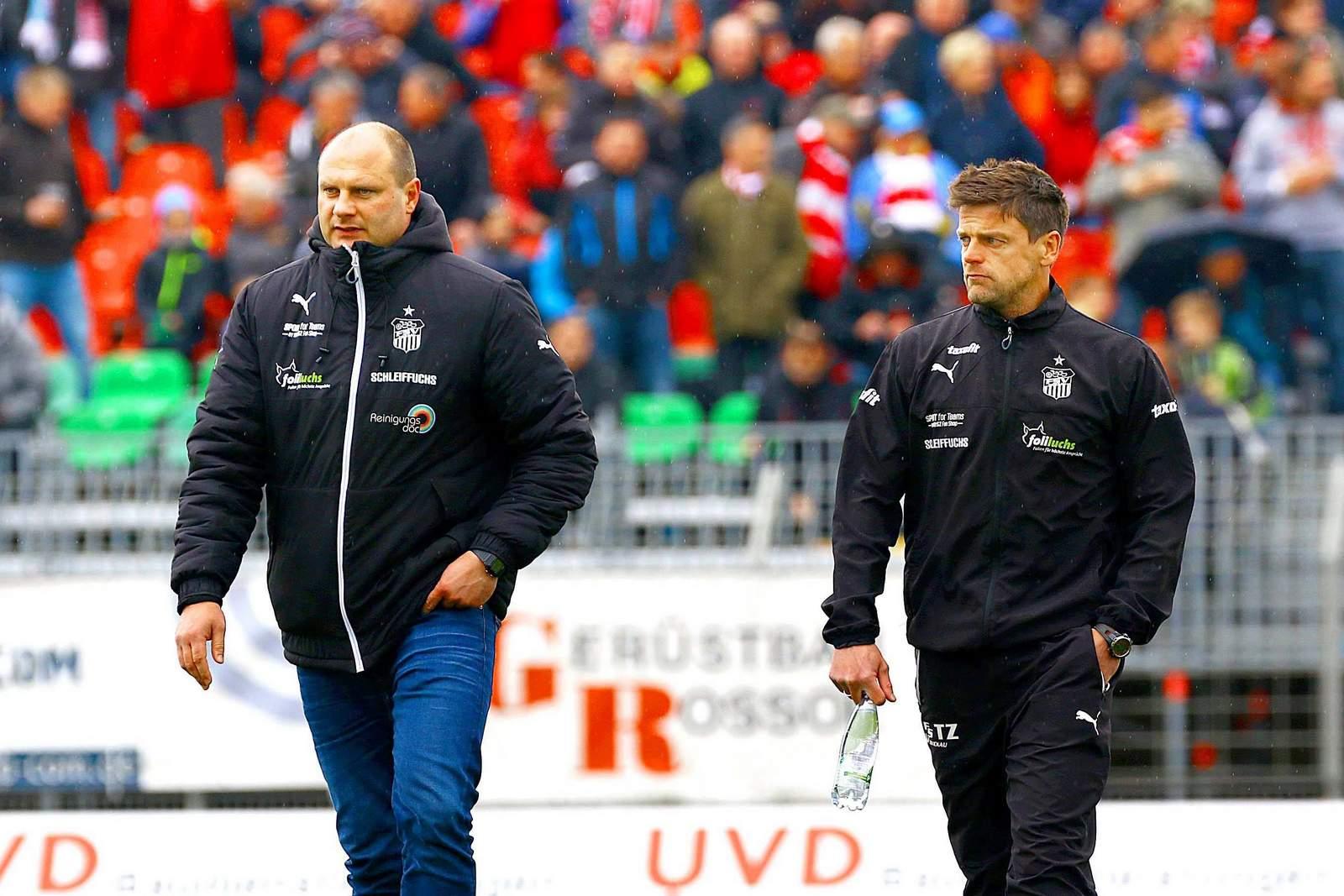 David Wagner und Torsten Ziegner gemeinsam beim FSV