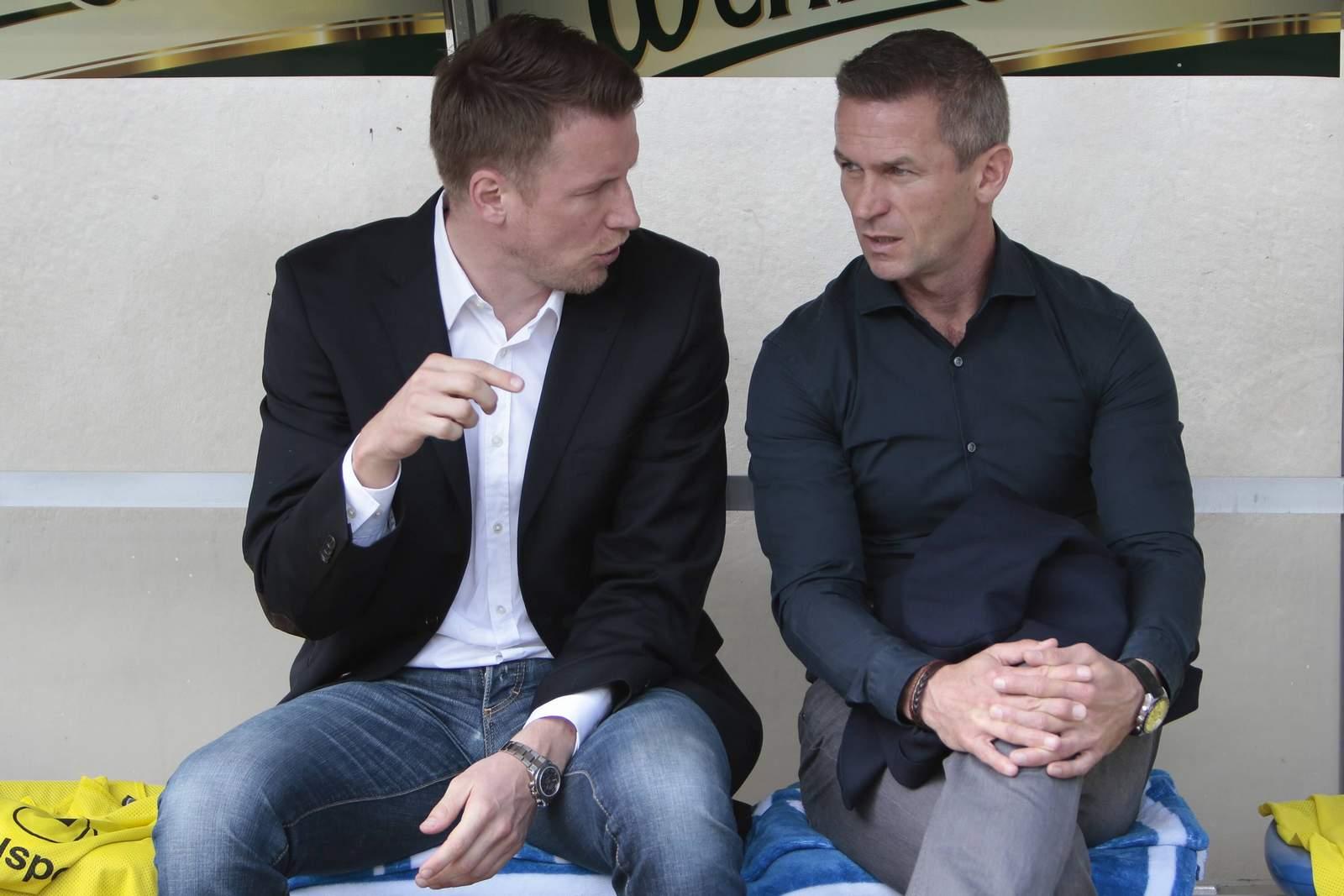 Vom FCM-Kader überzeugt: FCM-Manager-Assistent Maik Franz (l.)