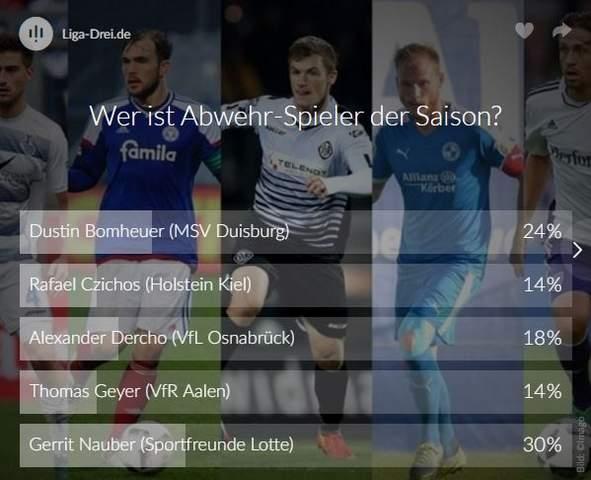 Screenshot Voting Abwehrspieler Saison 2016/17