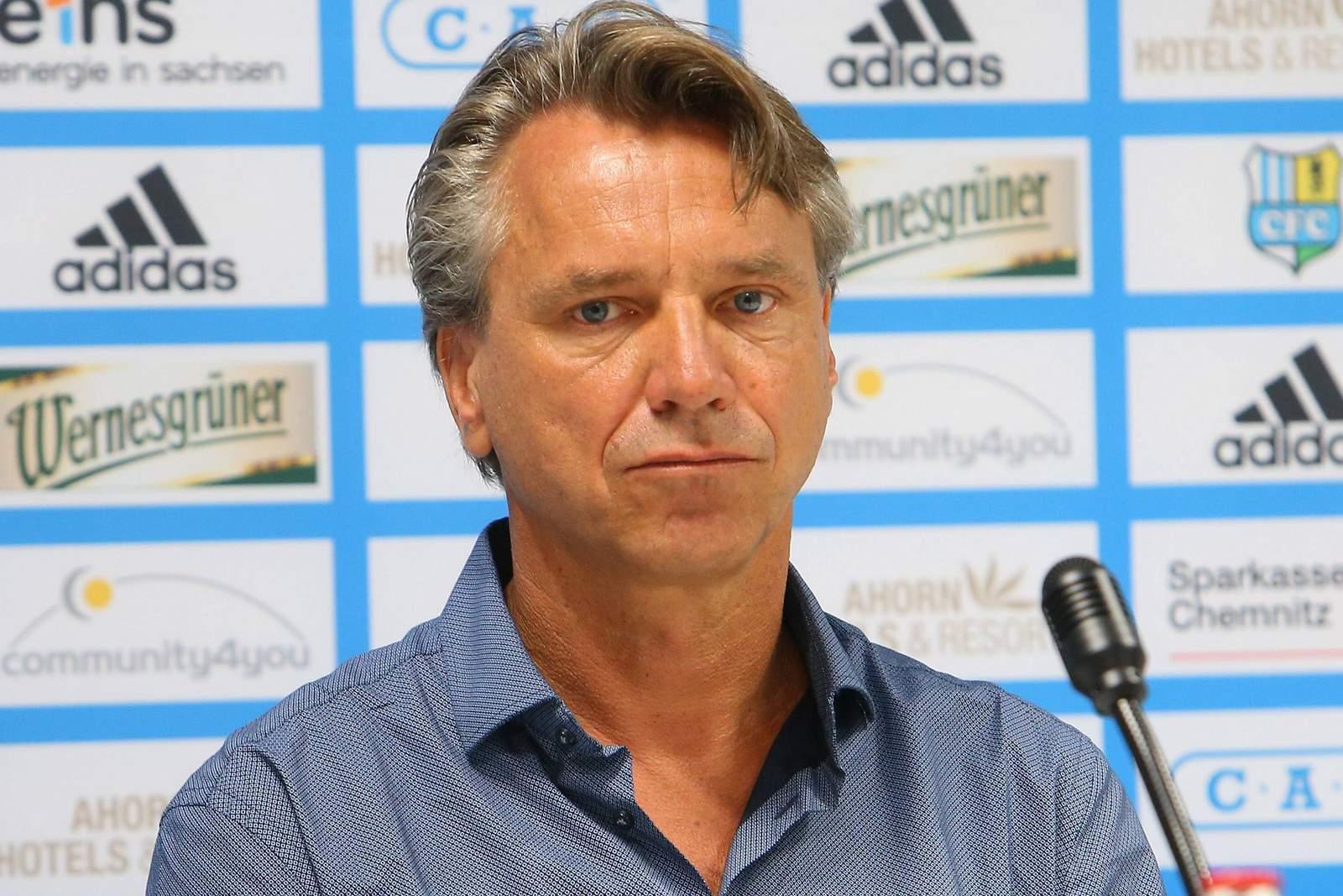 Horst Steffen Trainer des Chemnitzer FC