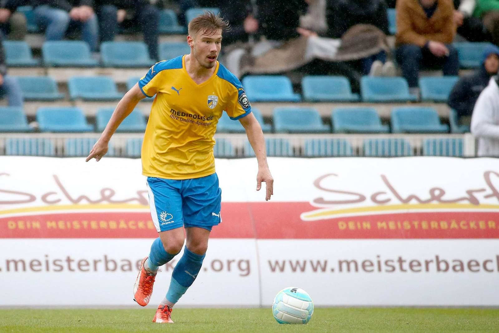 Erst 2018 wieder dabei: Jenas Mittelfeldspieler Niclas Erlbeck