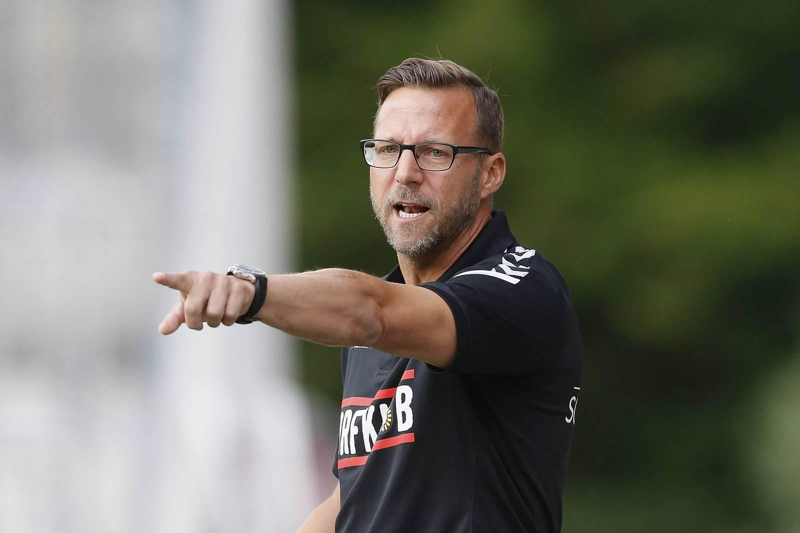 Mit Großaspachs Hinrunde zufrieden: Trainer Sascha Hildmann