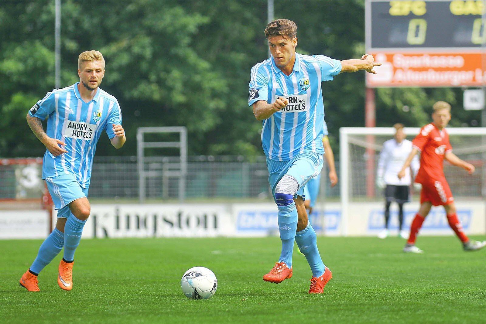 Florian Trinks und Myroslav Slavov vom Chemnitzer FC