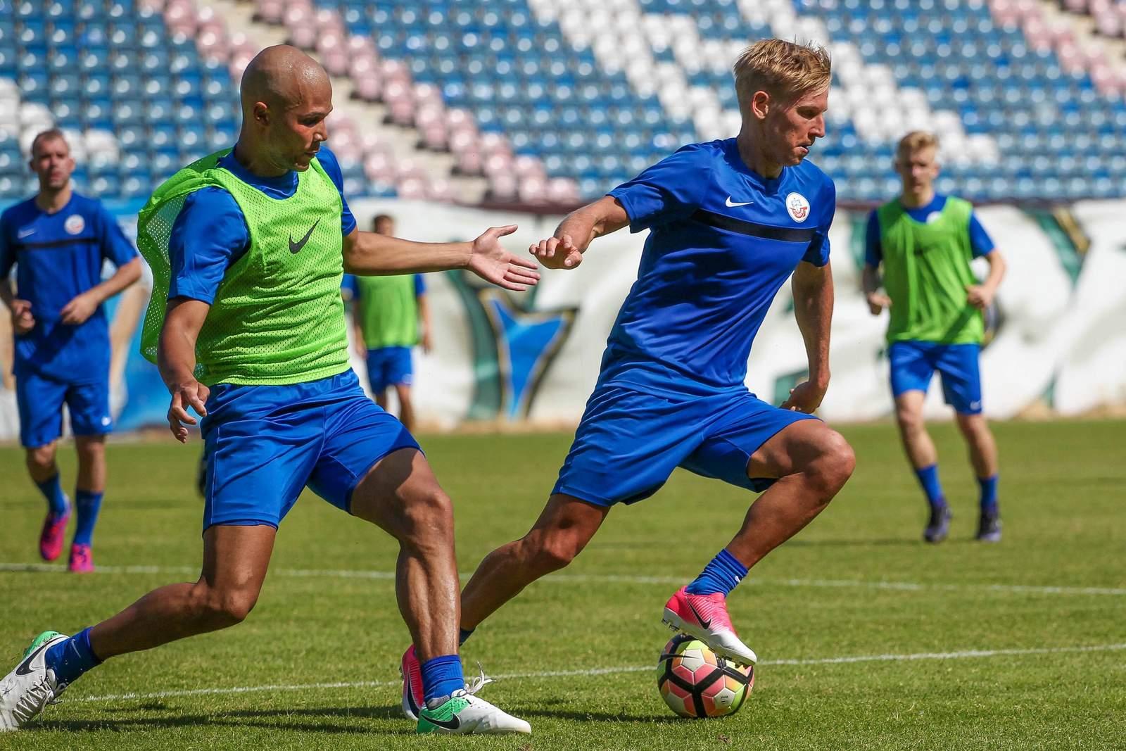 Willi Evseev im Training des FC Hansa Rostock