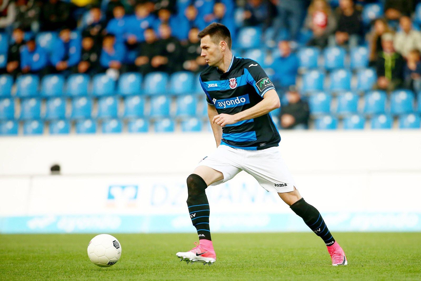 Denis Streker am Ball für FSV Frankfurt