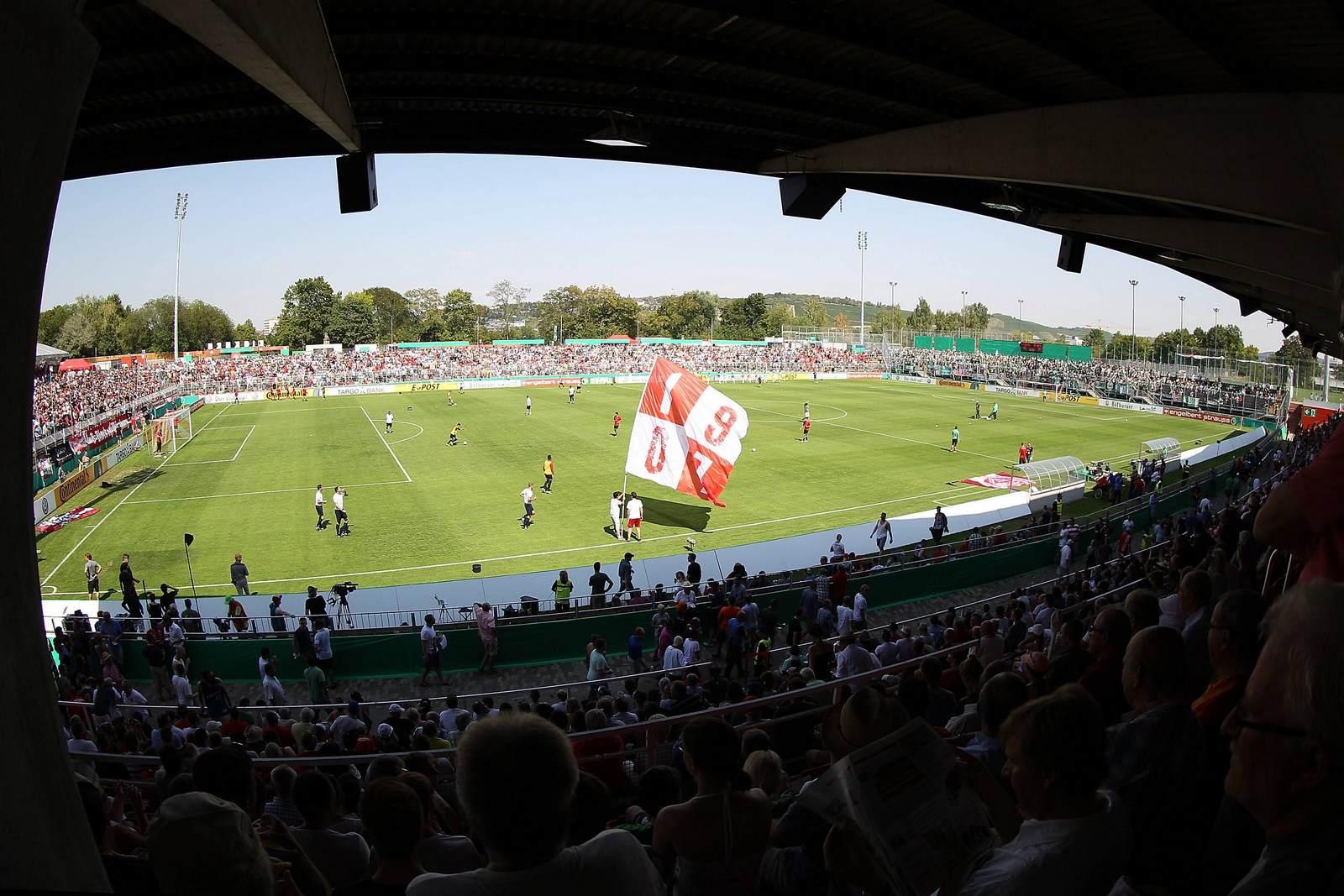 Das Stadion der Würzburger Kickers, die Flyeralarm Arena
