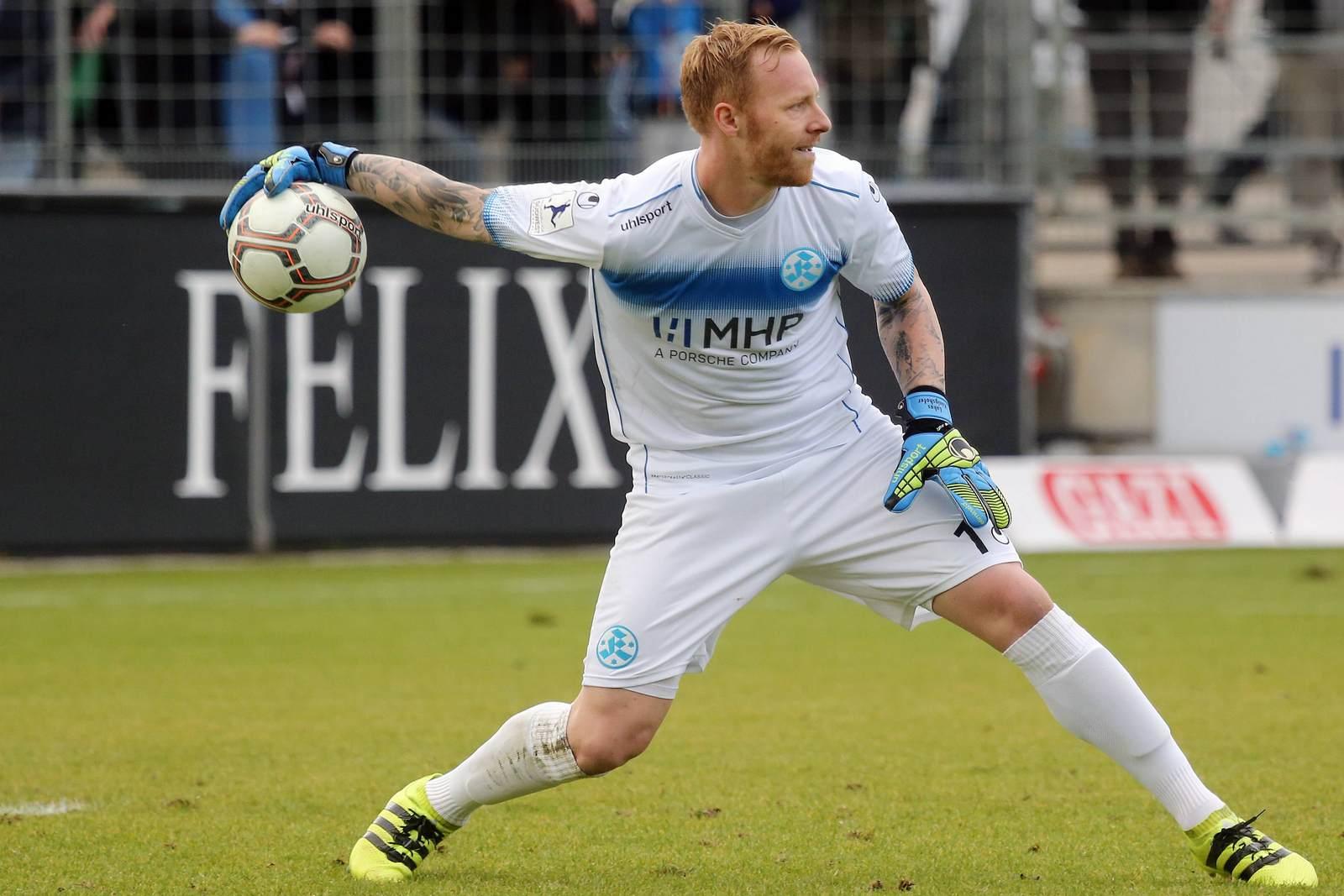 Lukas Königshofer, hier noch im Trikot der Stuttgarter Kickers