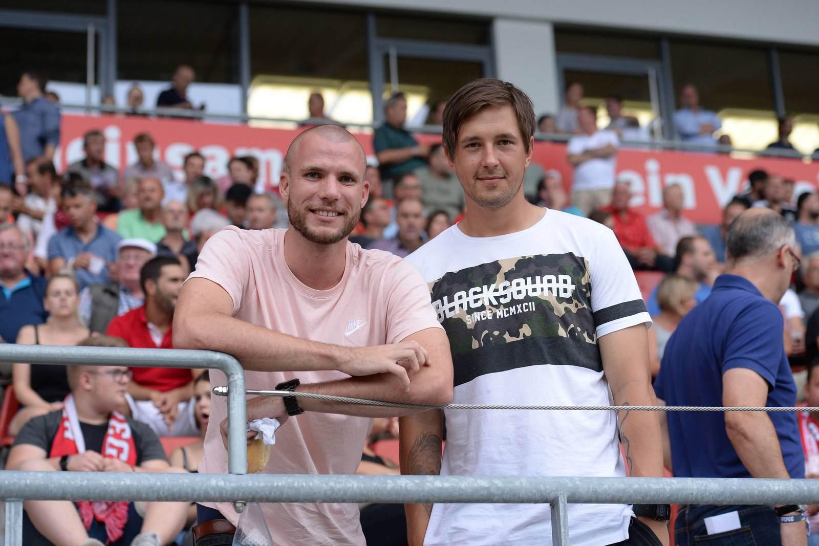 Manfred Starke und Kevin Pannewitz vom FC Carl Zeiss Jena