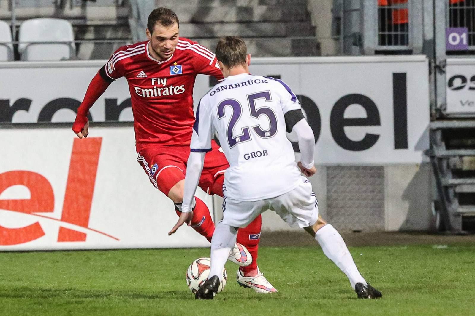 Setzt sich Lasogga gegen Groß durch? Jetzt auf Osnabrück gegen HSV wetten