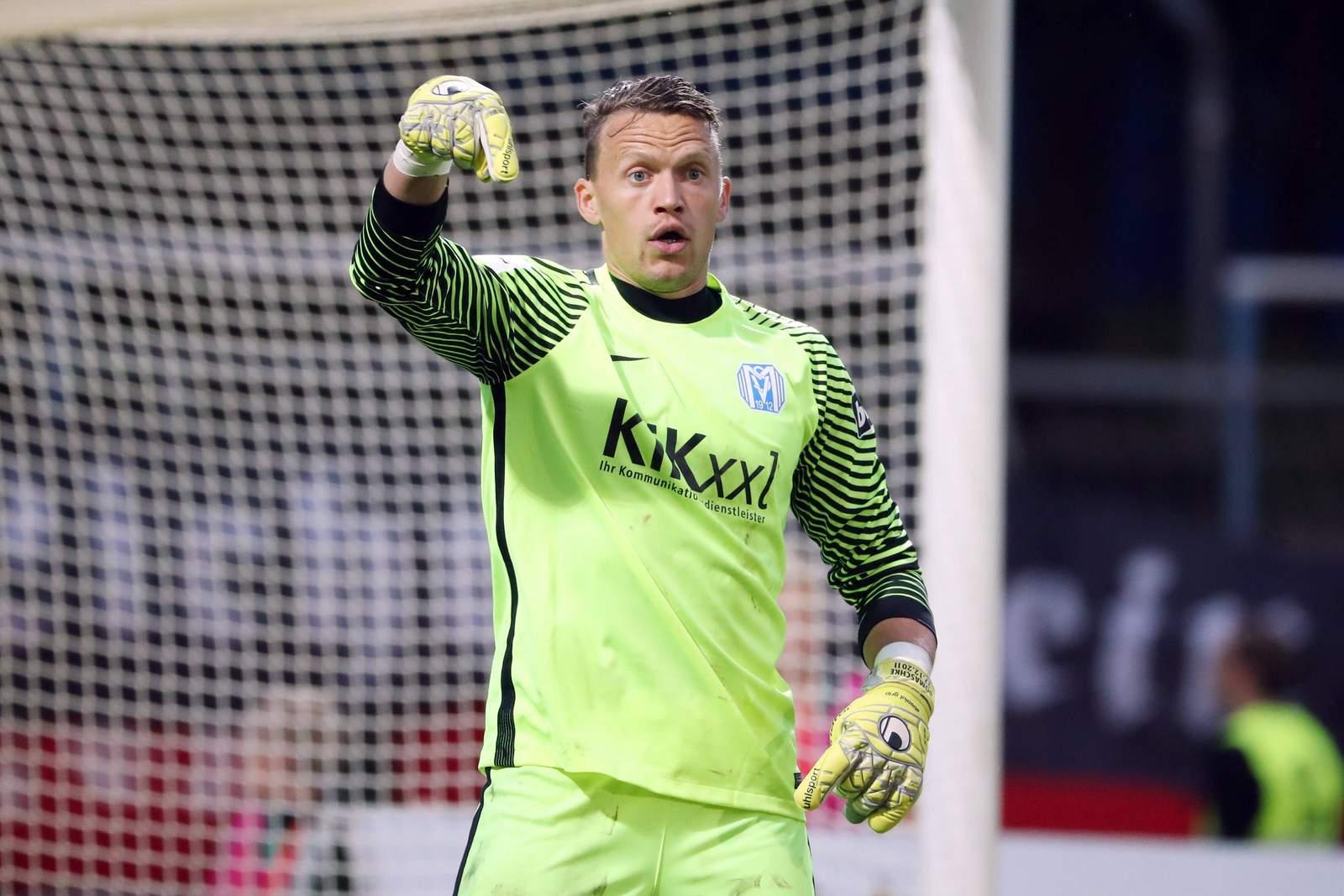 Erik Domaschke steht für den SV Meppen im Tor. Jetzt auf die Partie Erfurt gegen Meppen wetten