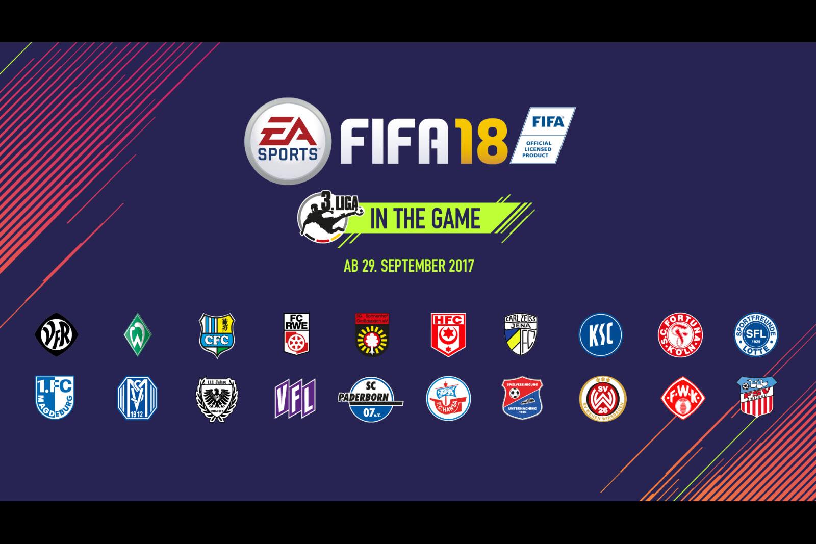 Übersicht mit allen Teams in FIFA 18