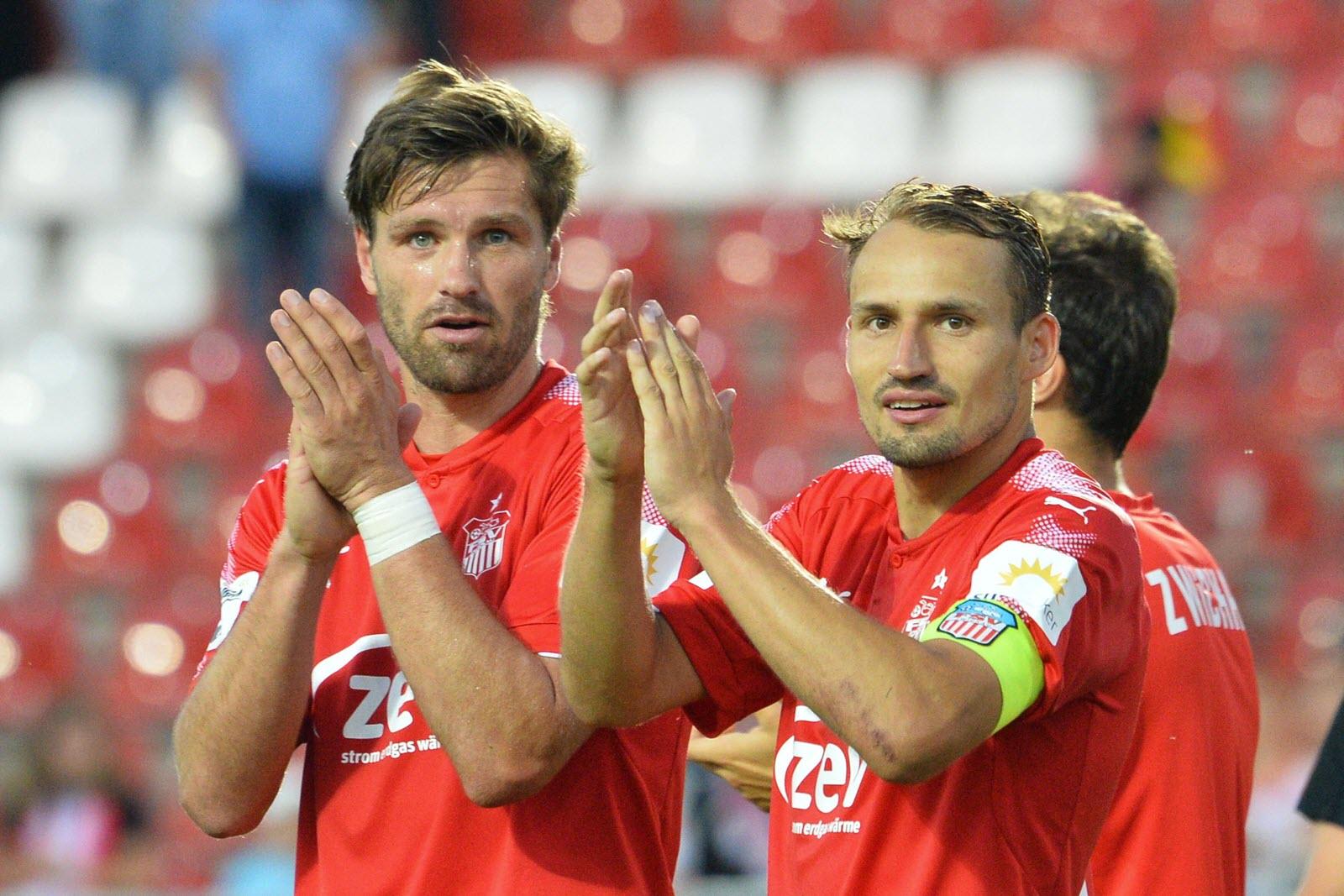 Ronny König und Toni Wachsmuth, Spieler beim FSV Zwickau