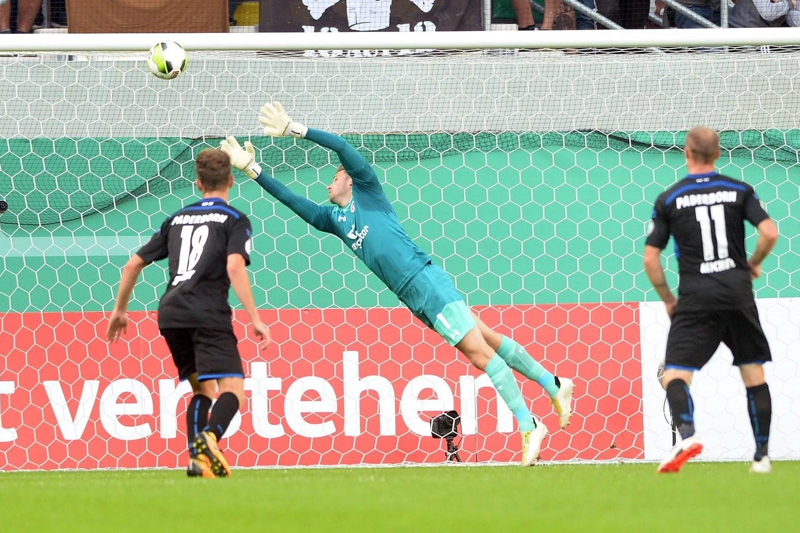 Tor von Massih Wassey im DFB-Pokal gegen St. Pauli