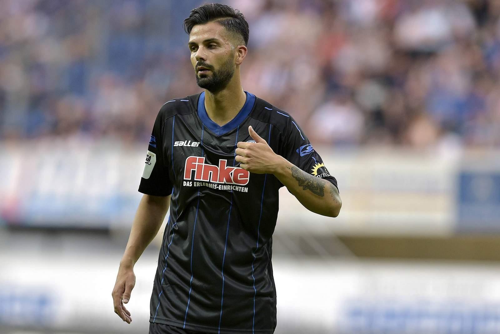 Massih Wassey im Trikot des SC Paderborn