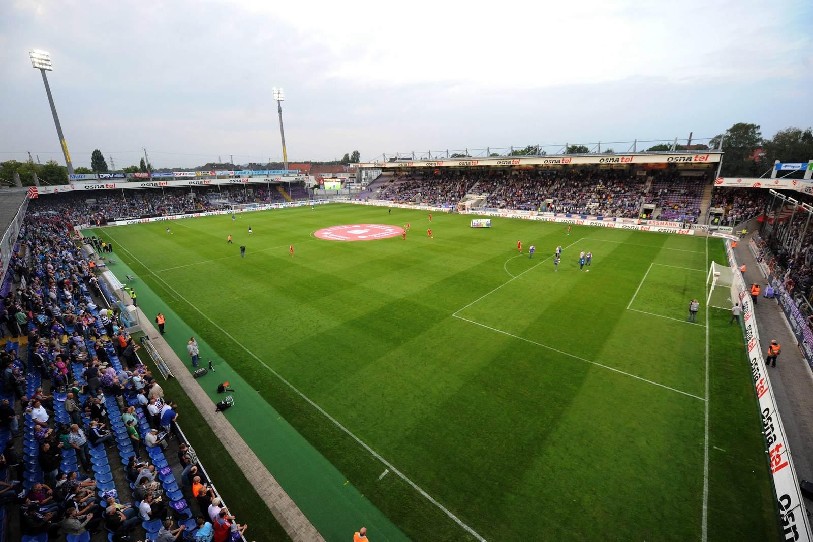 Stadion Bremer Brücke in Osnabrück aus der Vogelperspektive