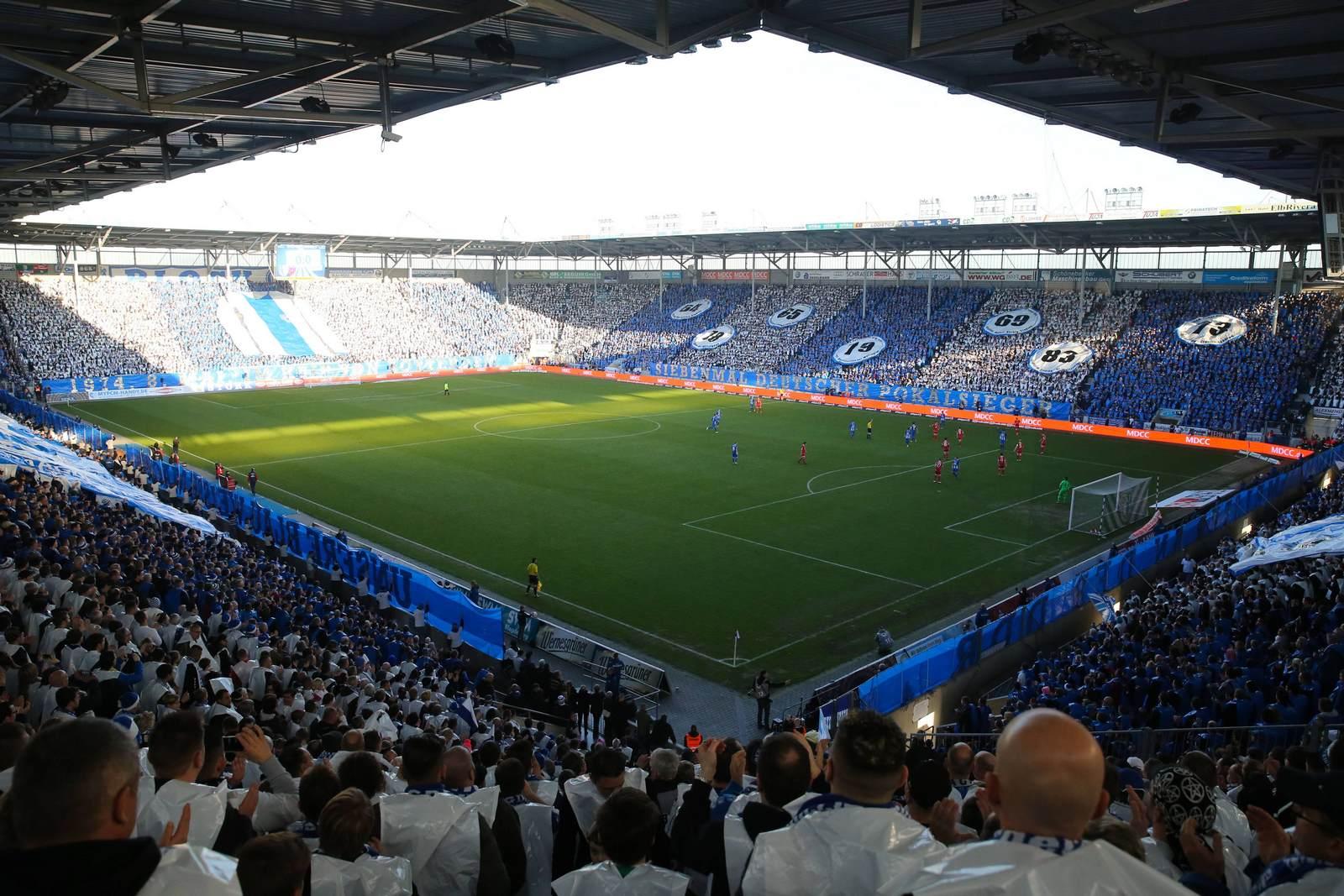 Die MDCC-Arena, Heimspielstätte des 1. FC Magdeburg
