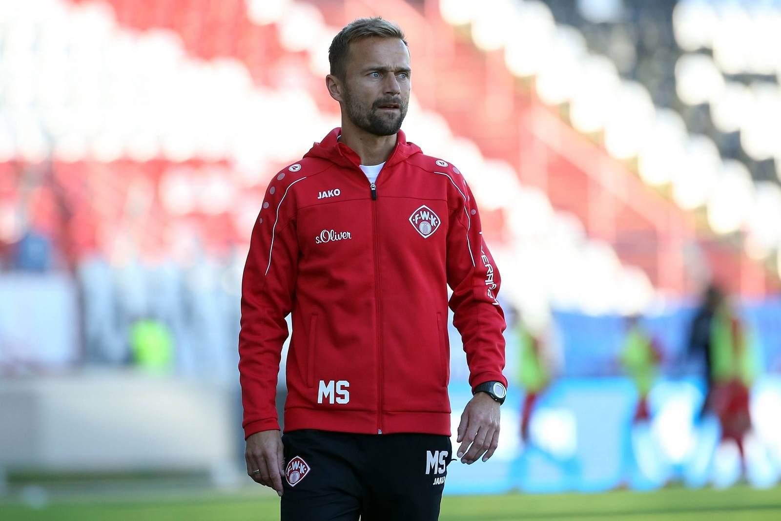 Qual der Wahl: Würzburgs Trainer Michael Schiele