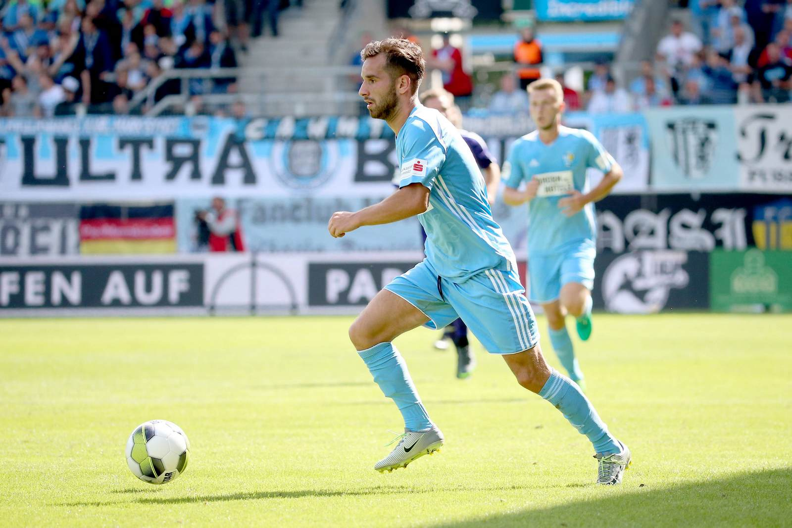 Okan Aydin am Ball für den Chemnitzer FC