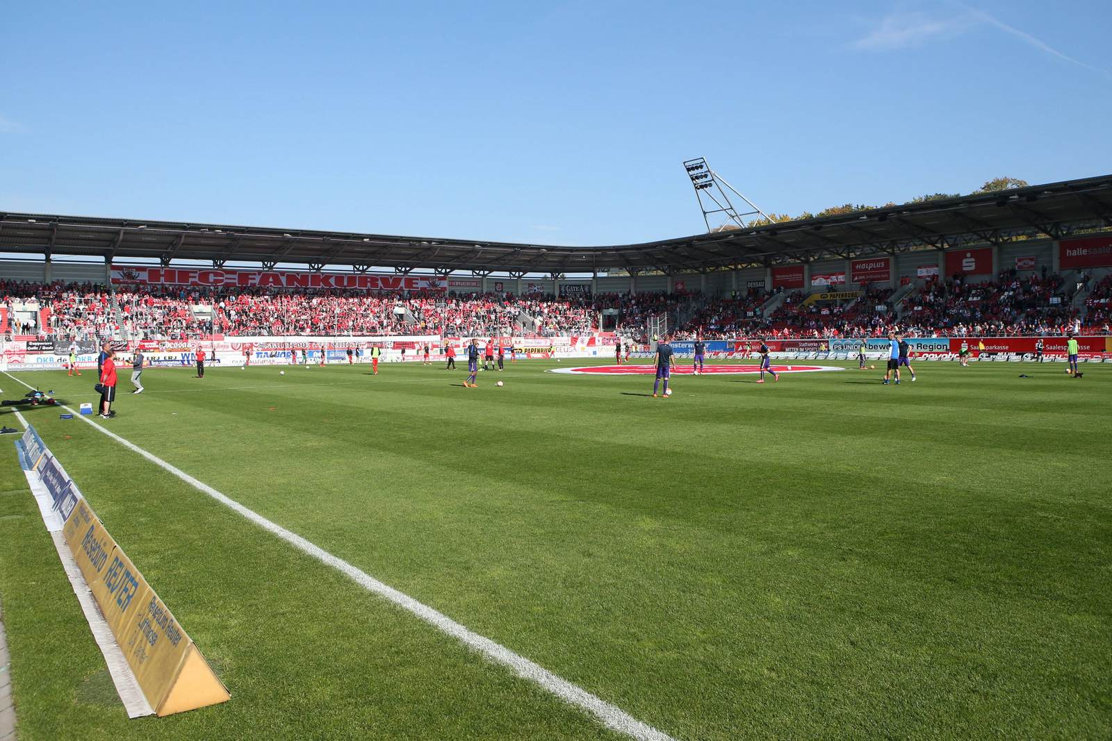 Erdgas Sportpark in Halle, Heimspielstätte des HFC