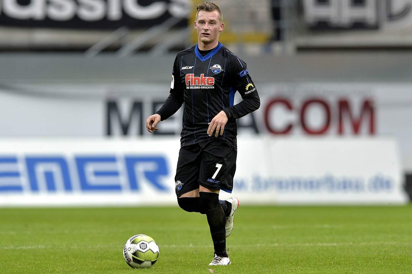 Marlon Ritter am Ball für den SC Paderborn.