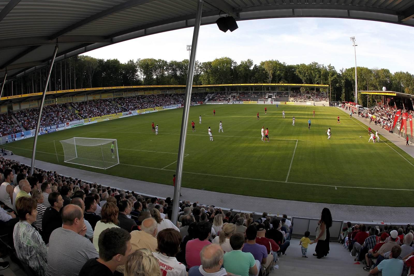 Die SG Sonnenhof Großaspach trägt ihre Heimspiele in der mechatronik Arena aus.
