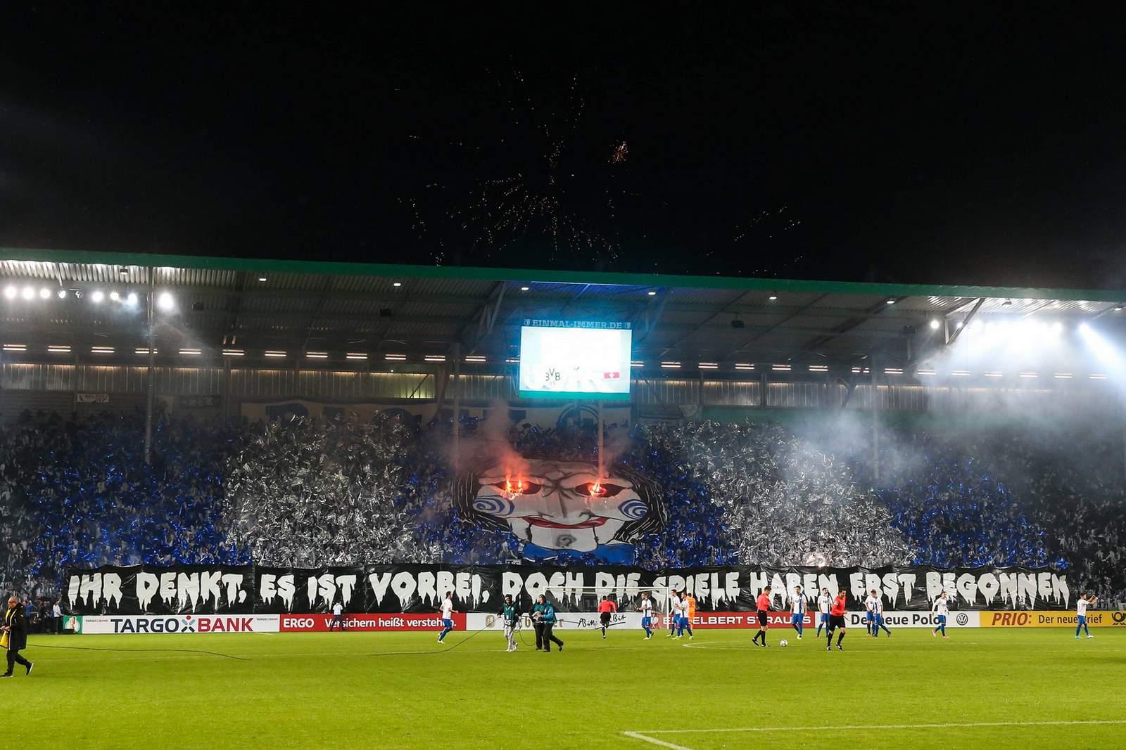Choreo des 1. FC Magdeburg