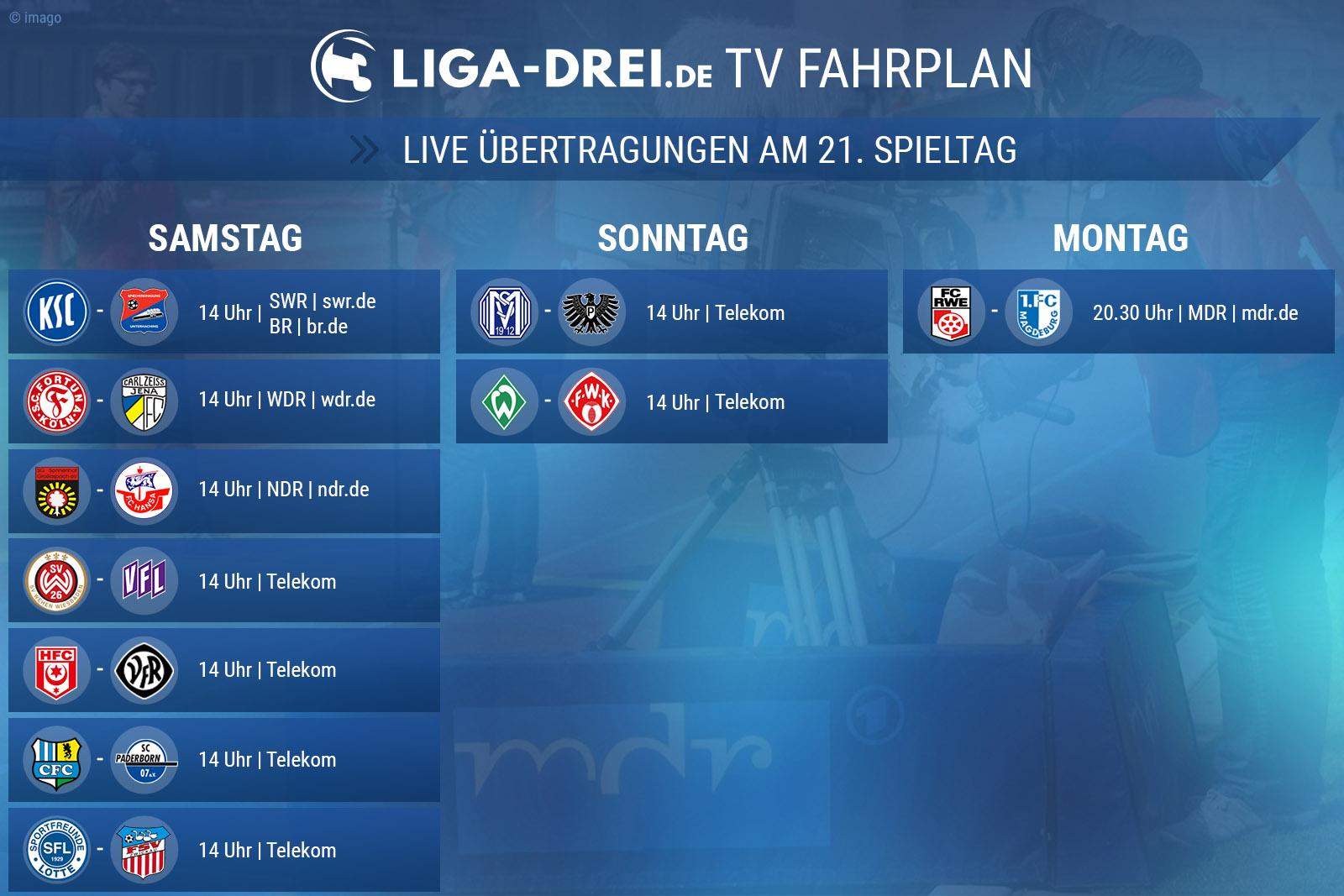 Vier Partien werden im Free-TV gezeigt.