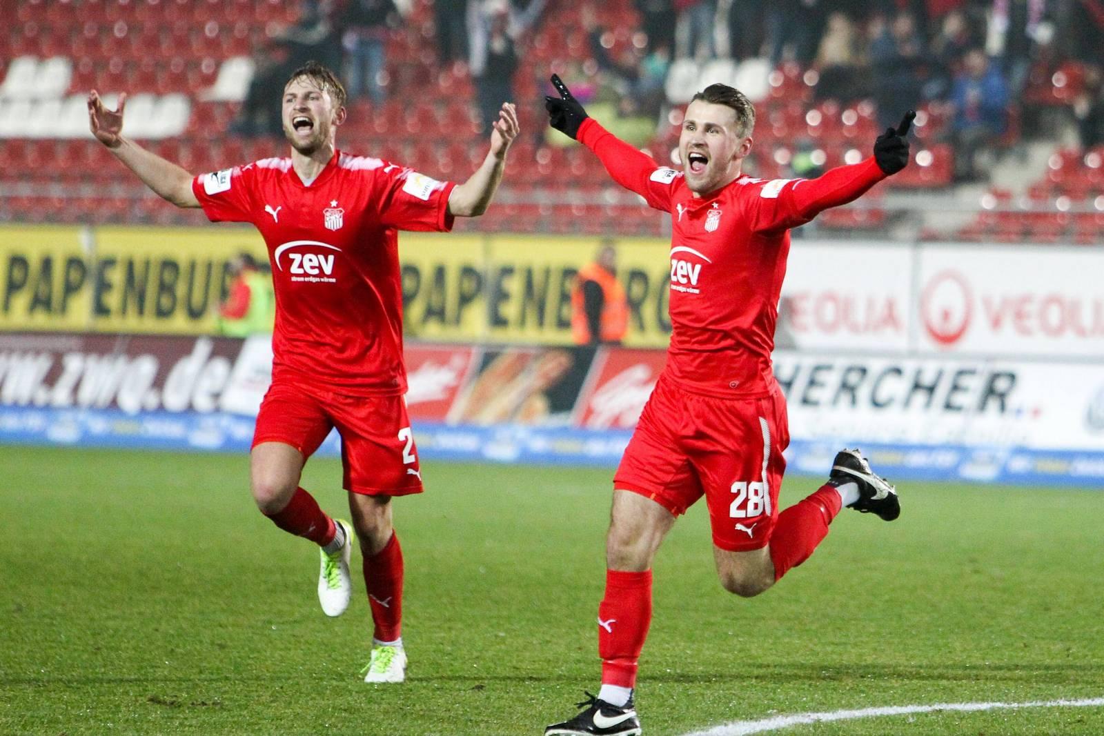 Nils Miatke und Jan Washausen vom FSV Zwickau