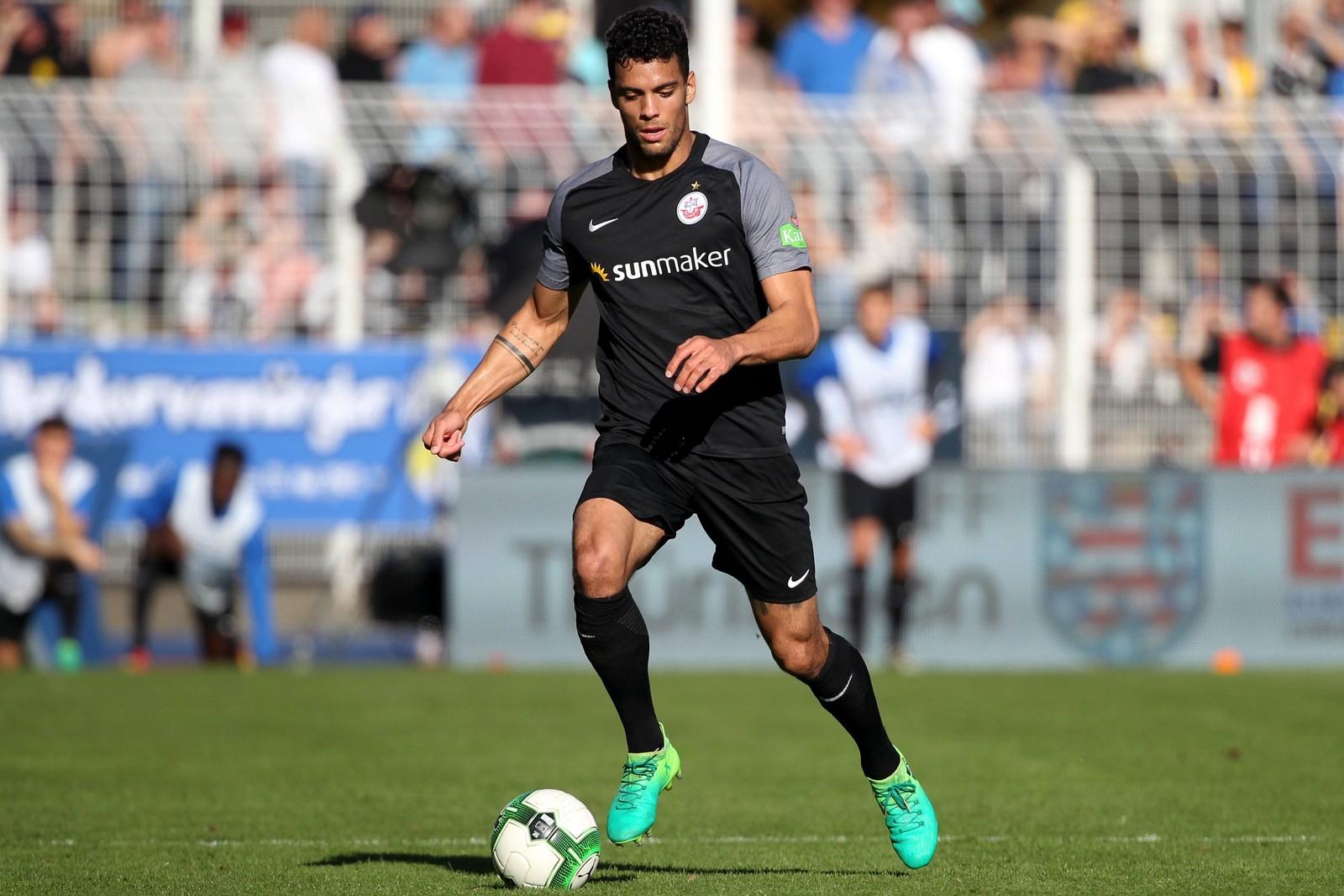 Joshua Nadeau vom FC Hansa Rostock