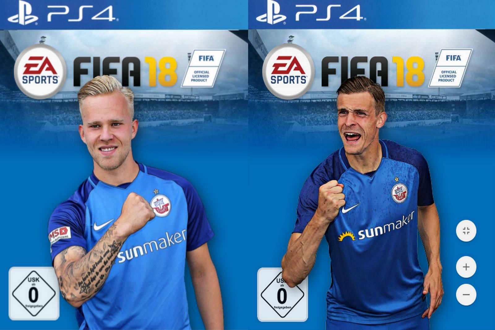 FIFA 18 Spielercover von Hansa Rostock