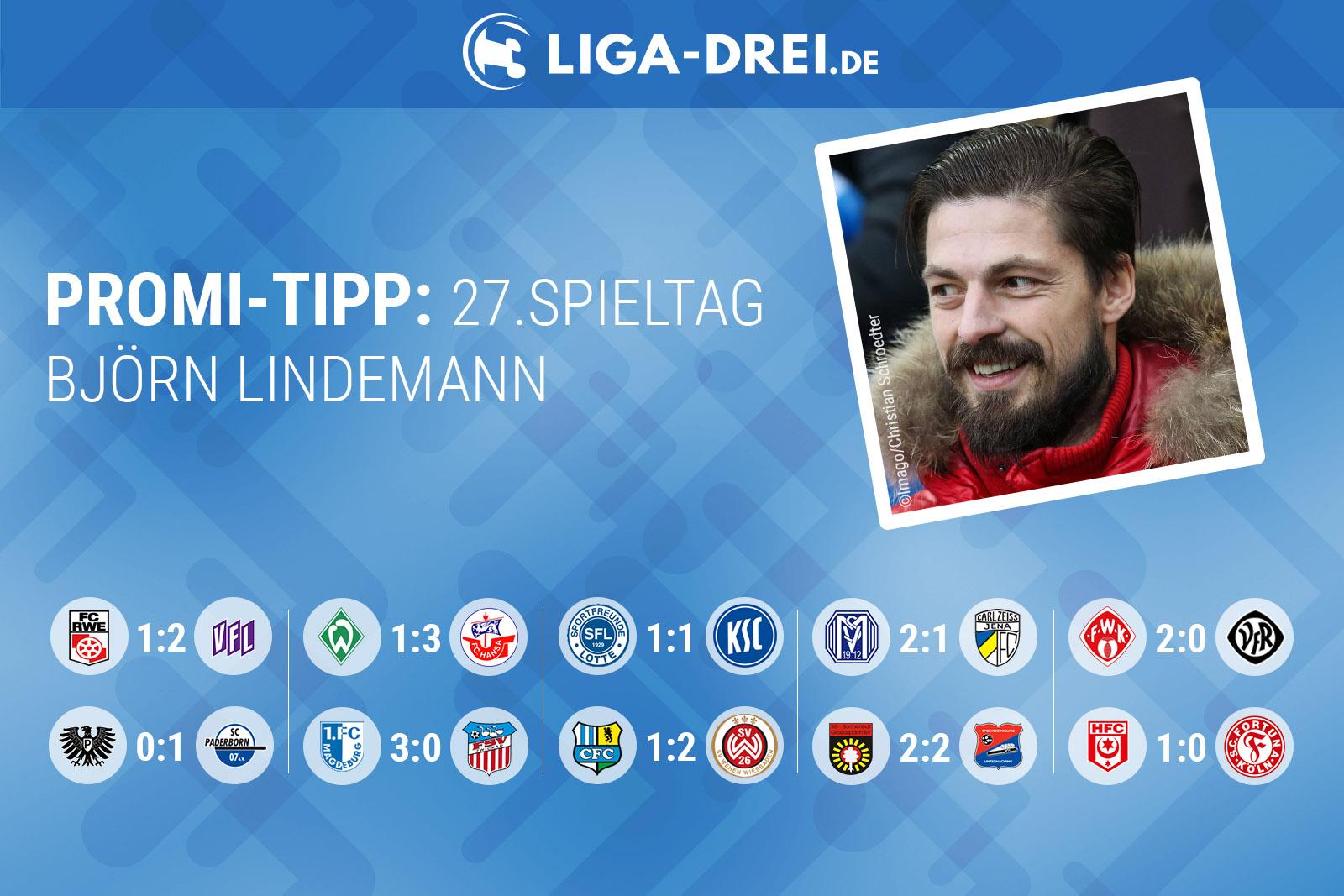 Björn Lindemann tippt den 27. Spieltag der 3. Liga
