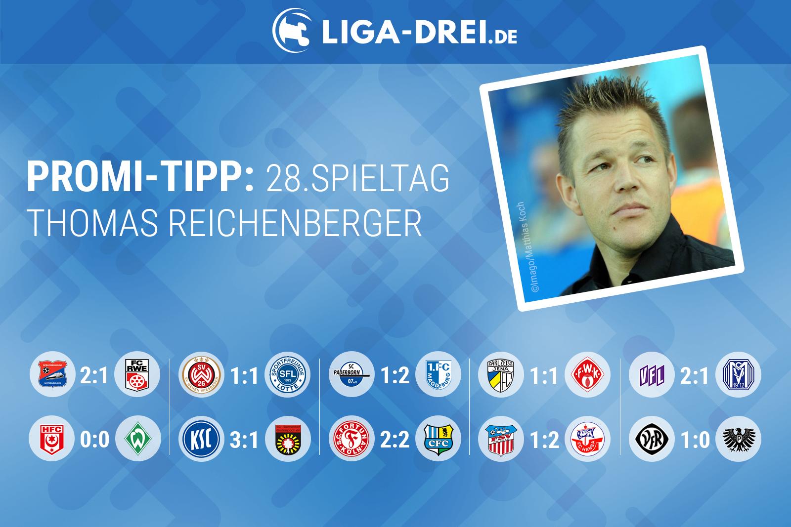 Thomas Reichenberger tippt den 28. Spieltag